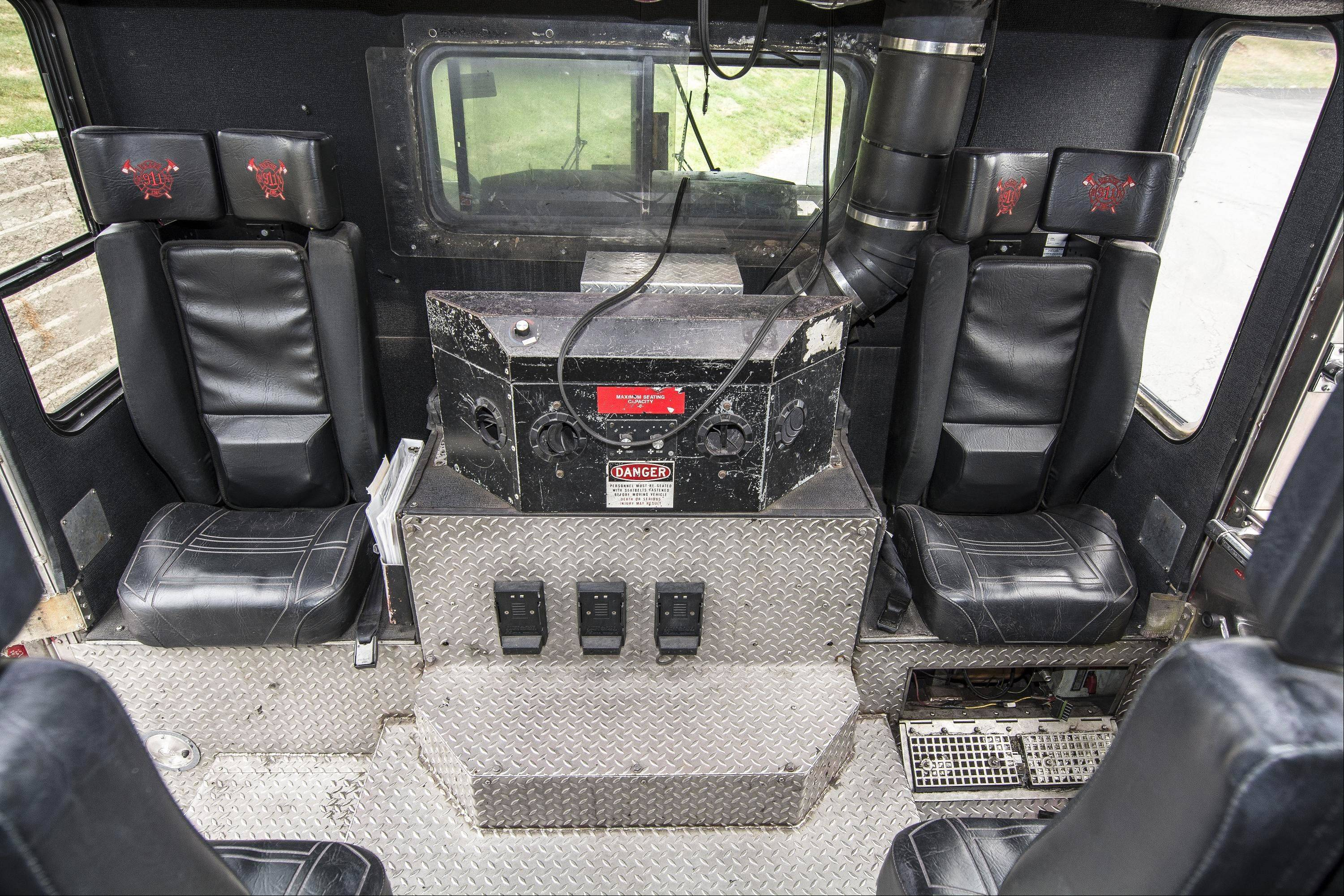 The cab interior has been left unchanged since the truck's purchase in 2011.