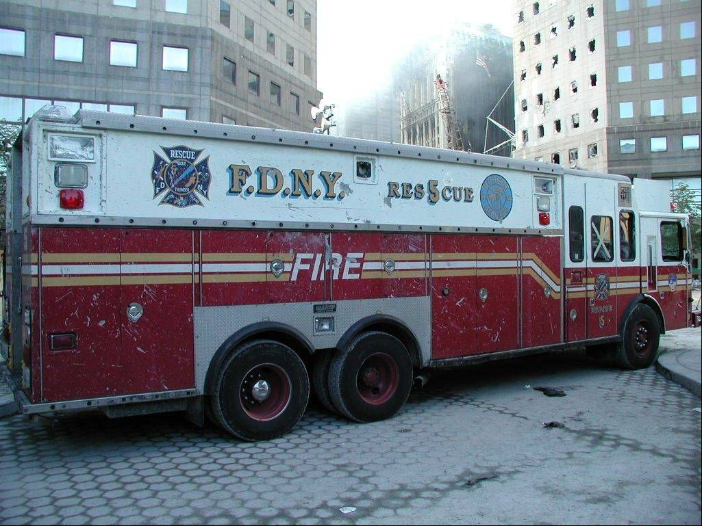 The truck was damaged on Sept. 11 but repaired an out back into service.