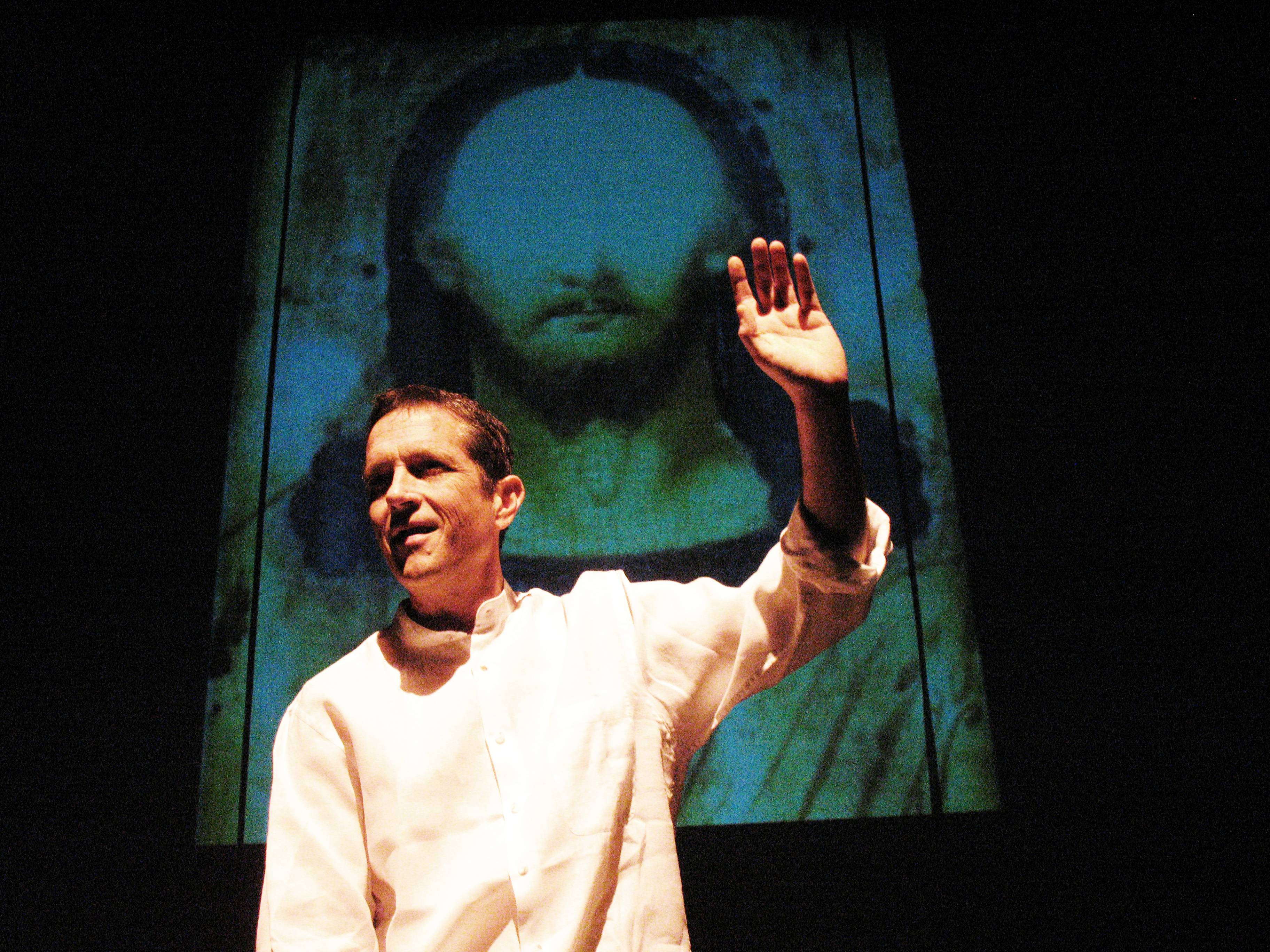 Off-Broadway Actor Brad Sherill captivates audiences with riveting performance of Jesus' words in 'Red Letter Jesus' playing at Provision Theater through October 13.