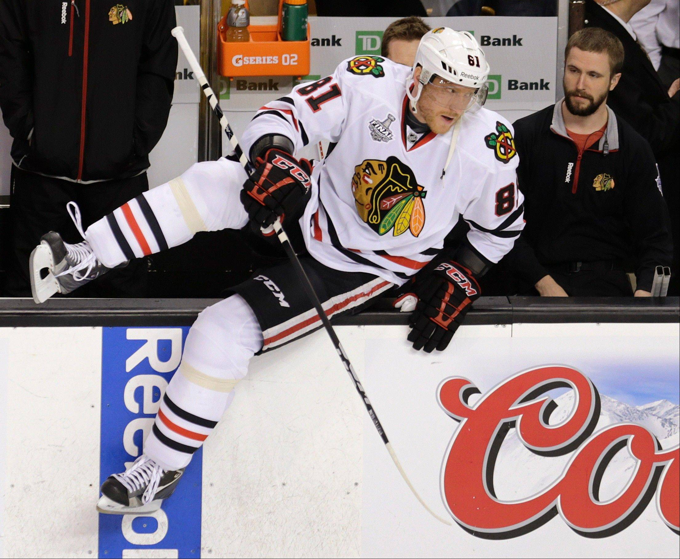 The health of forward Marian Hossa is one of the things to watch as the Blackhawks opening training camp this week.