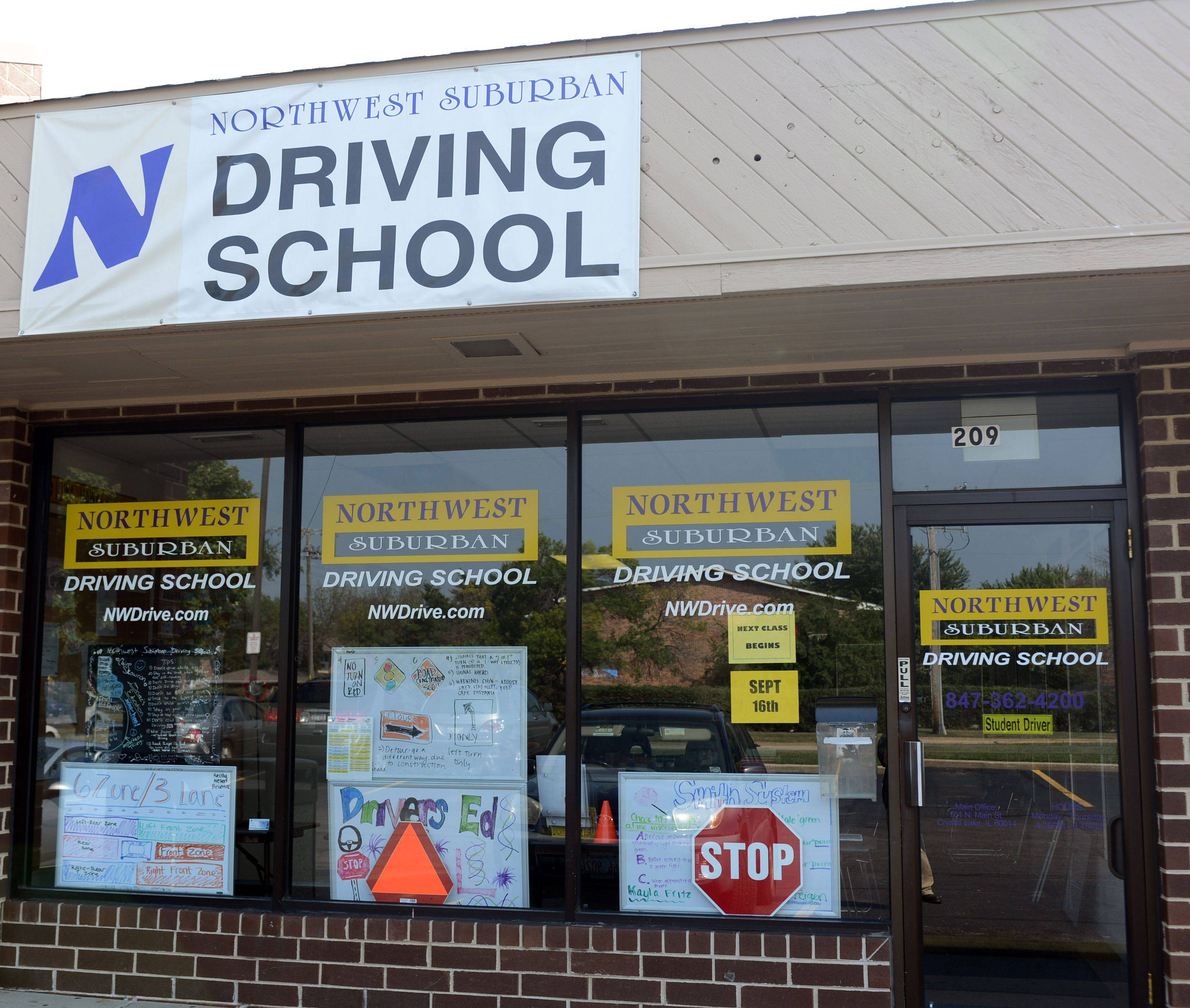 Northwest Suburban Driving School, which operated along Butterfield Road in Vernon Hills and several more suburban locations, has gone out of business. Students are expected to be reimbursed.