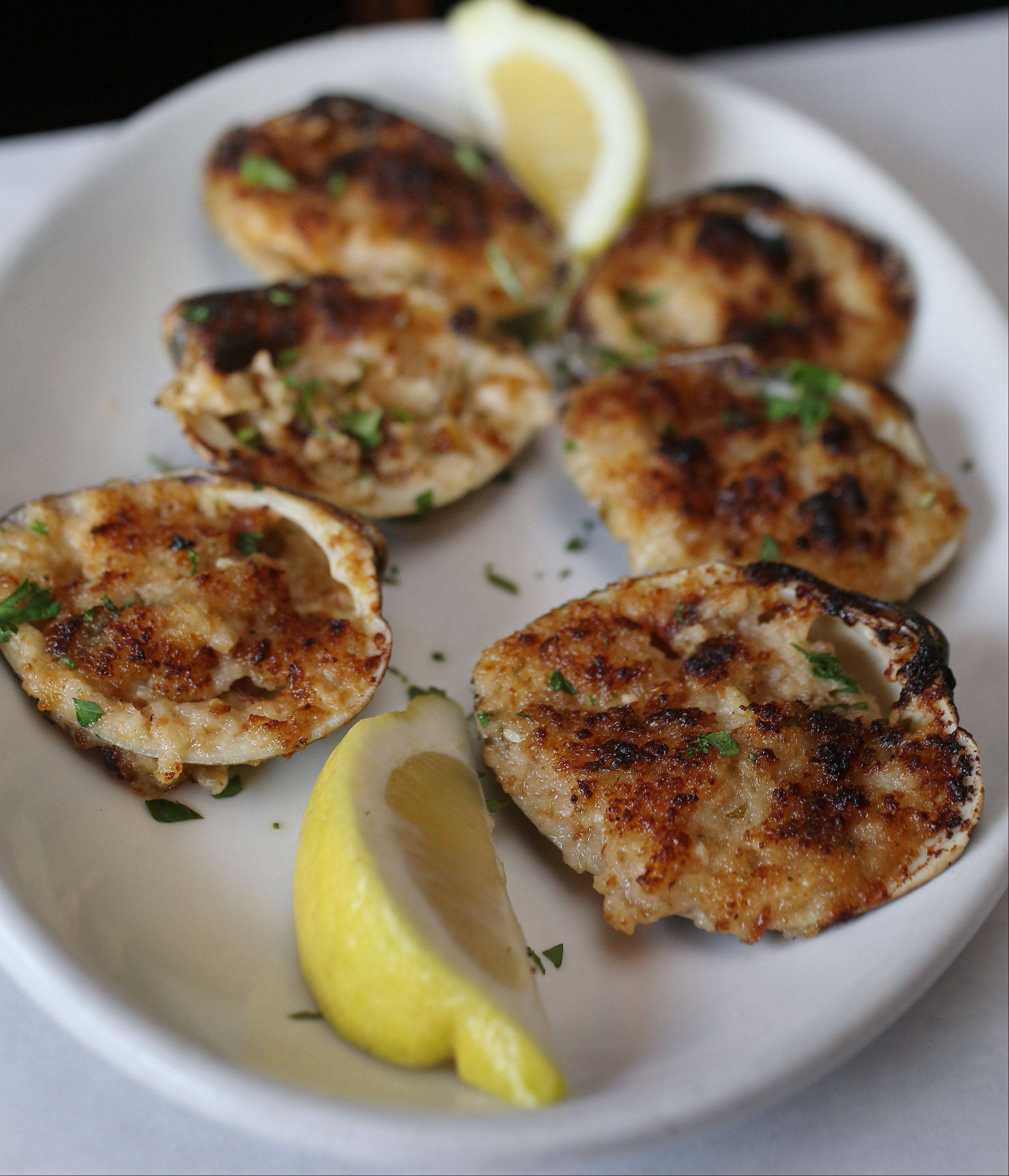Baked clams is one of the many popular dishes at DiPiero's Ristorante in Lake Zurich.