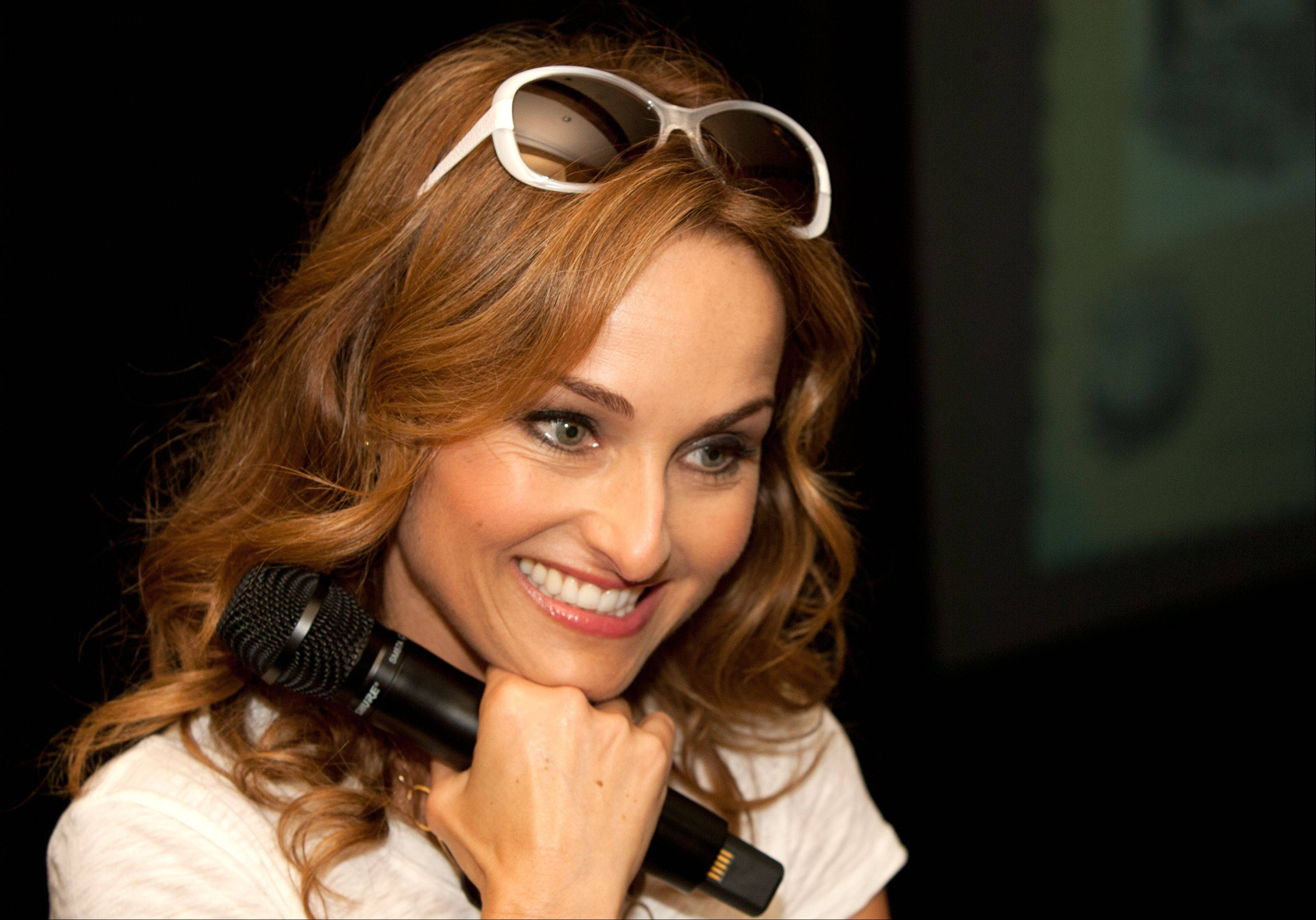 Celebrity chef and Food Network star Giada De Laurentiis made stops Tuesday at the White Eagle clubhouse in the Naperville and Aurora subdivision and at Pfeiffer Hall on North Central College's campus in downtown Naperville.