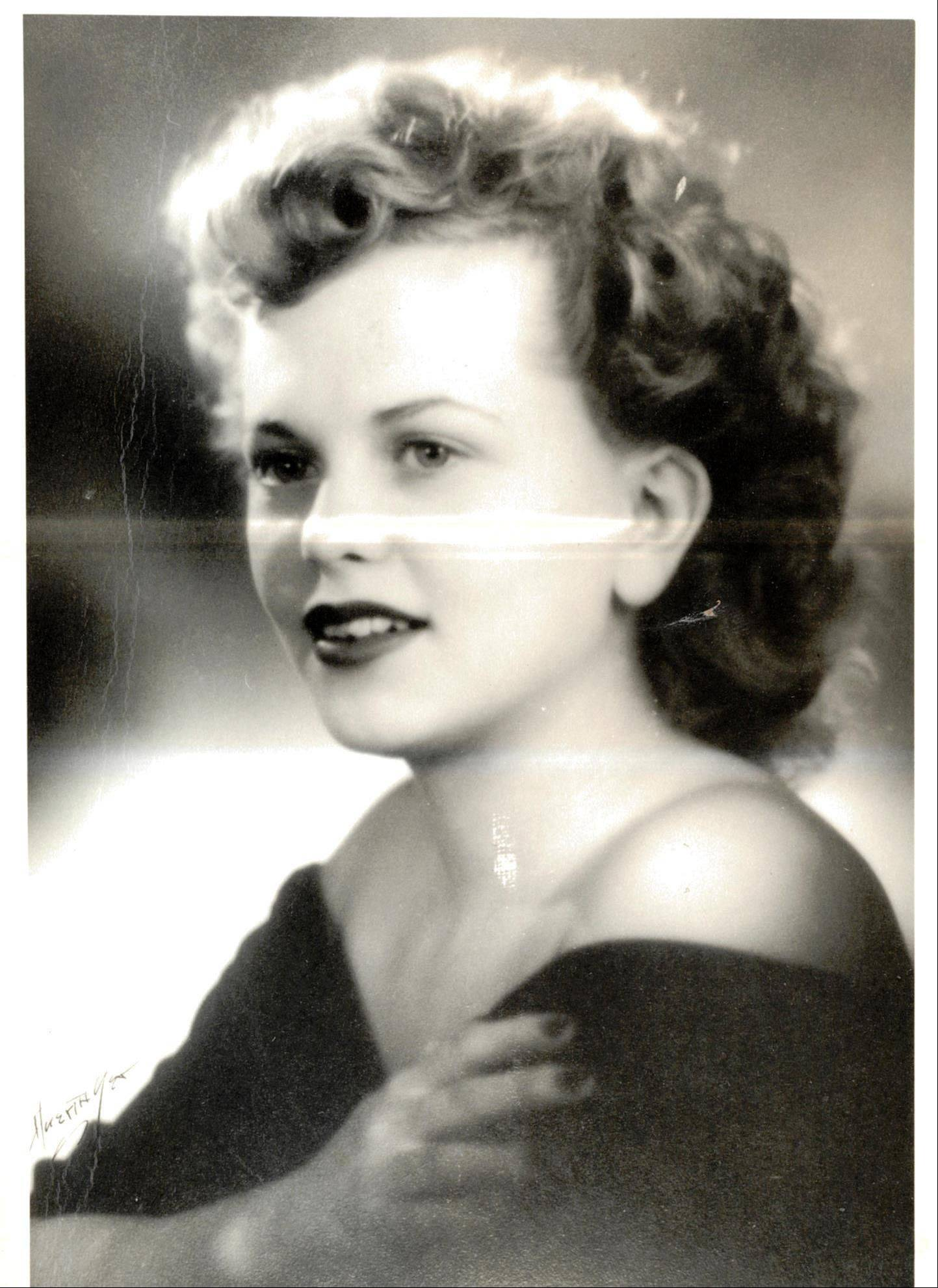 Juil Patricia Wasmond, of Cary, is pictured around the time of her graduation in 1944 from St. Edward High School in Elgin.