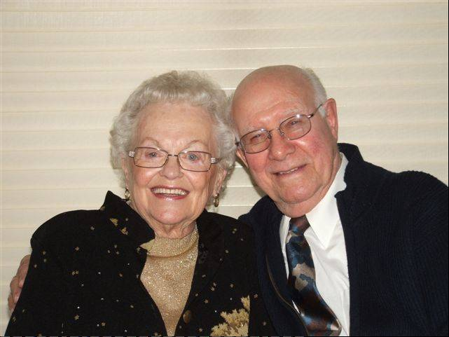 Juil Patricia Wasmond, of Cary, is pictured with her husband, Bob, on their 50th wedding anniversary. The two were married for 64 years.