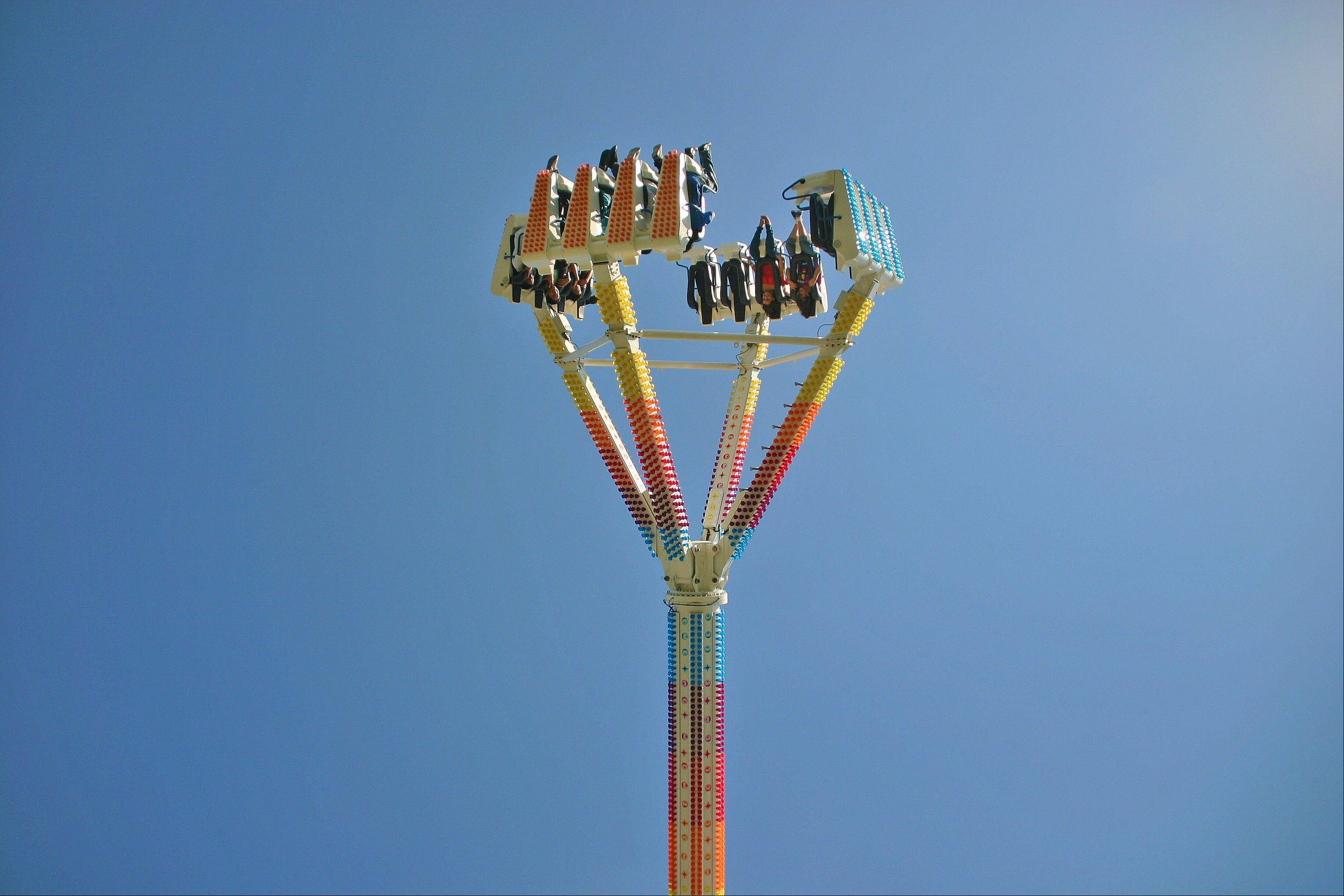 """Freak Out!"" is one of many rides for kids and adults at the carnival at Fall Fest Des Plaines at Lake Park."