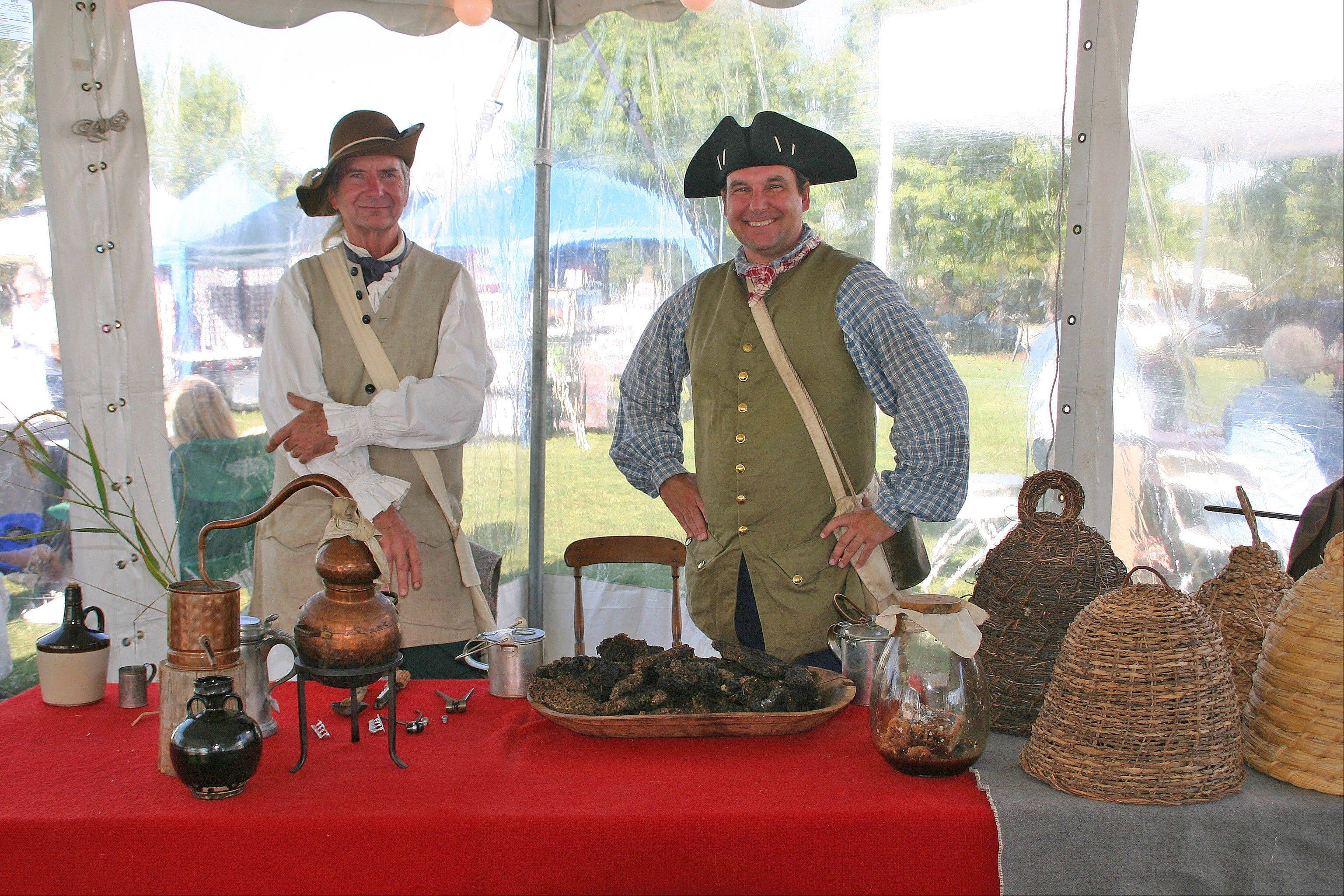 Costumed interpreters in the Des Plaines History Museum Country Fair Tent will talk about the history of Des Plaines at Fall Fest Des Plaines Sept. 13-15 at Lake Park.