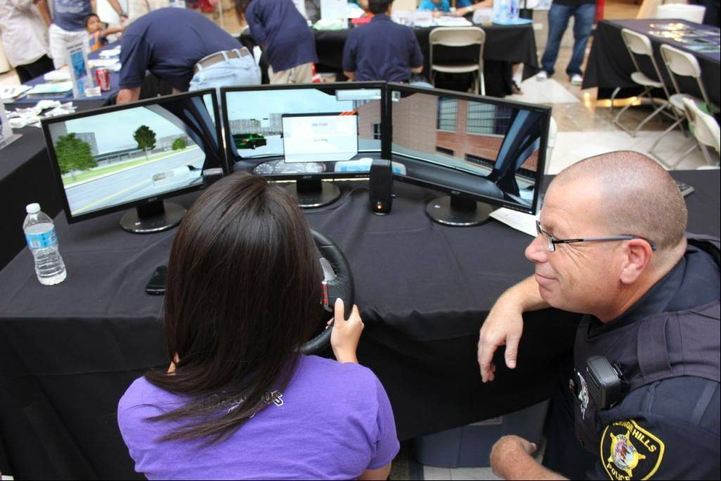 Law Enforcement Expo at Westfield Hawthorn Mall in Vernon Hills included a driving simulator at the Vernon Hills Police Department booth last year.