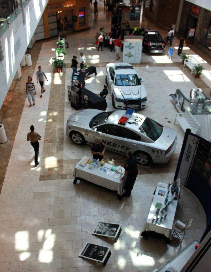 Law Enforcement Expo at Westfield Hawthorn Mall in Vernon Hills included a Lake County Sheriff's Office display.