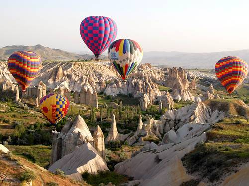 Up, up and away! Hot air ballooning over Cappadocia, Turkey is an option on the Community Education Travel's exciting trip to Turkey on March 14-28, 2014. Book this exotic trip now!