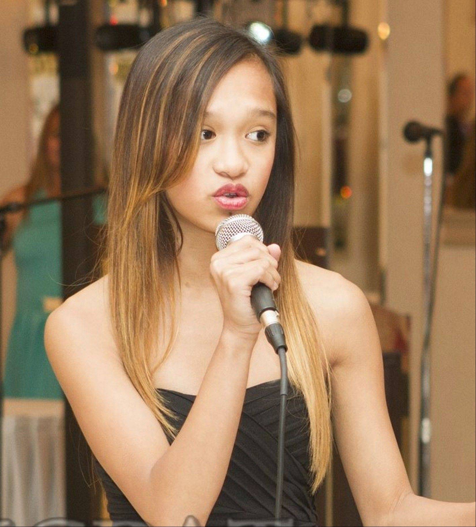 Singer Kayla Tejero of Montgomery, a finalist in the Geneva's Got Talent competition, is a voice student in the Fox Valley Park District's Adagio Music Studio.