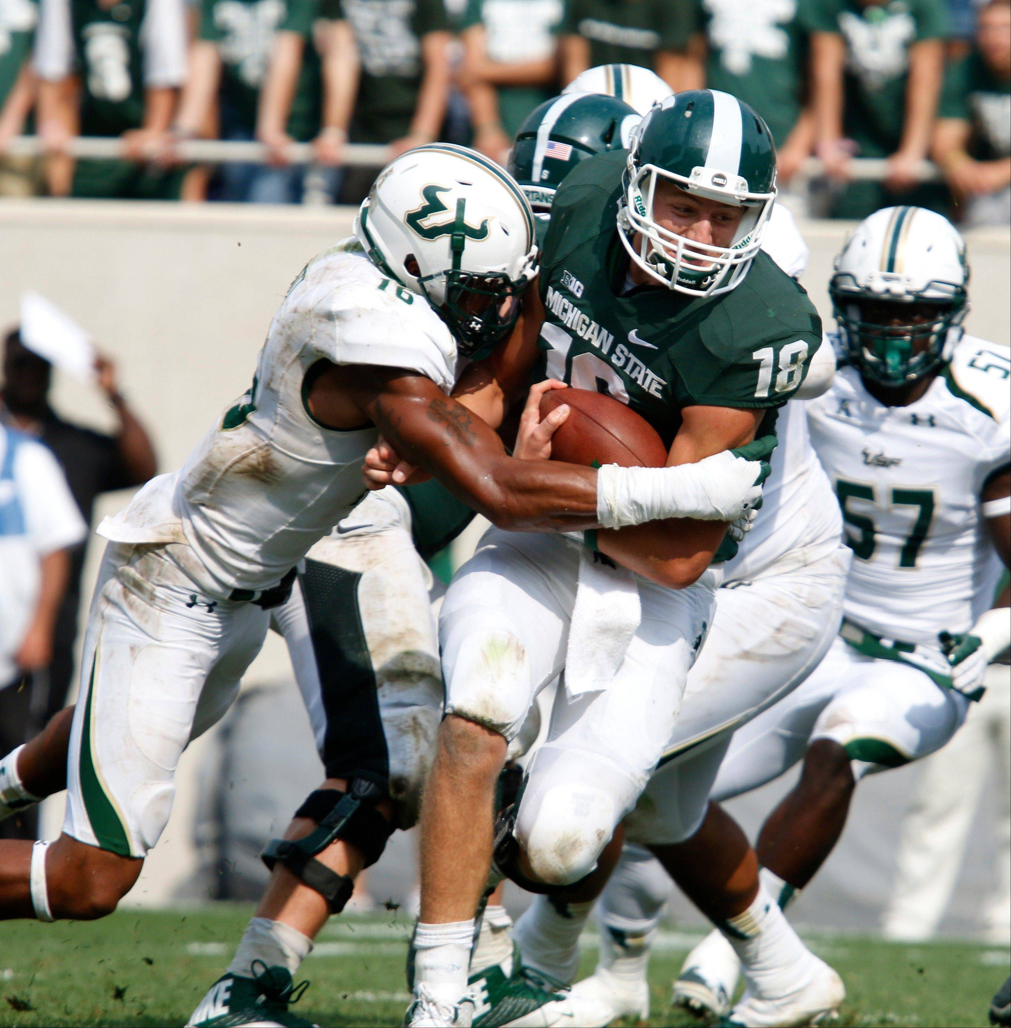 Michigan State quarterback Connor Cook started the Spartans� second game.