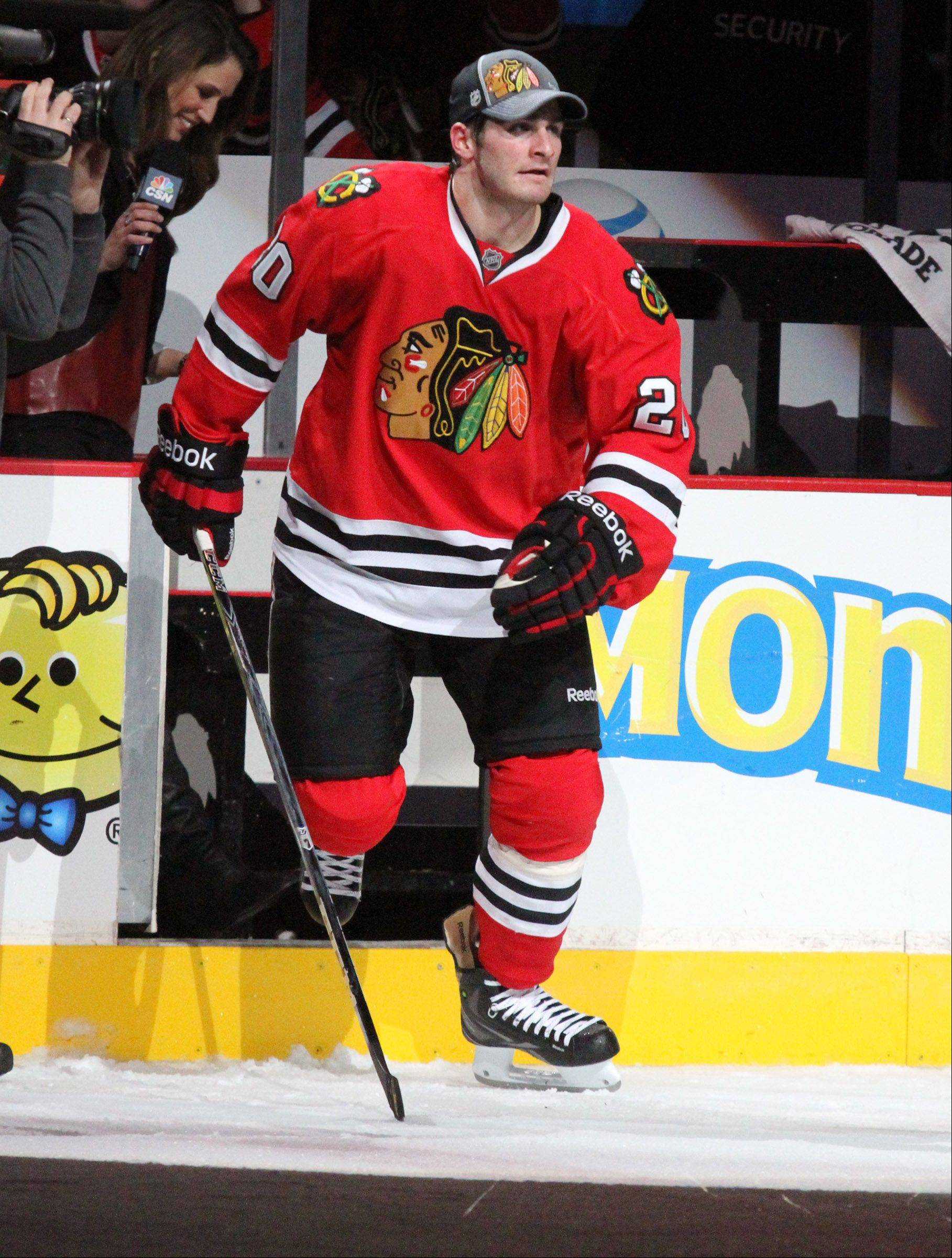 When the Blackhawks opening training camp, Brandon Saad will be spending some time at second-line center after playing last season at left wing.