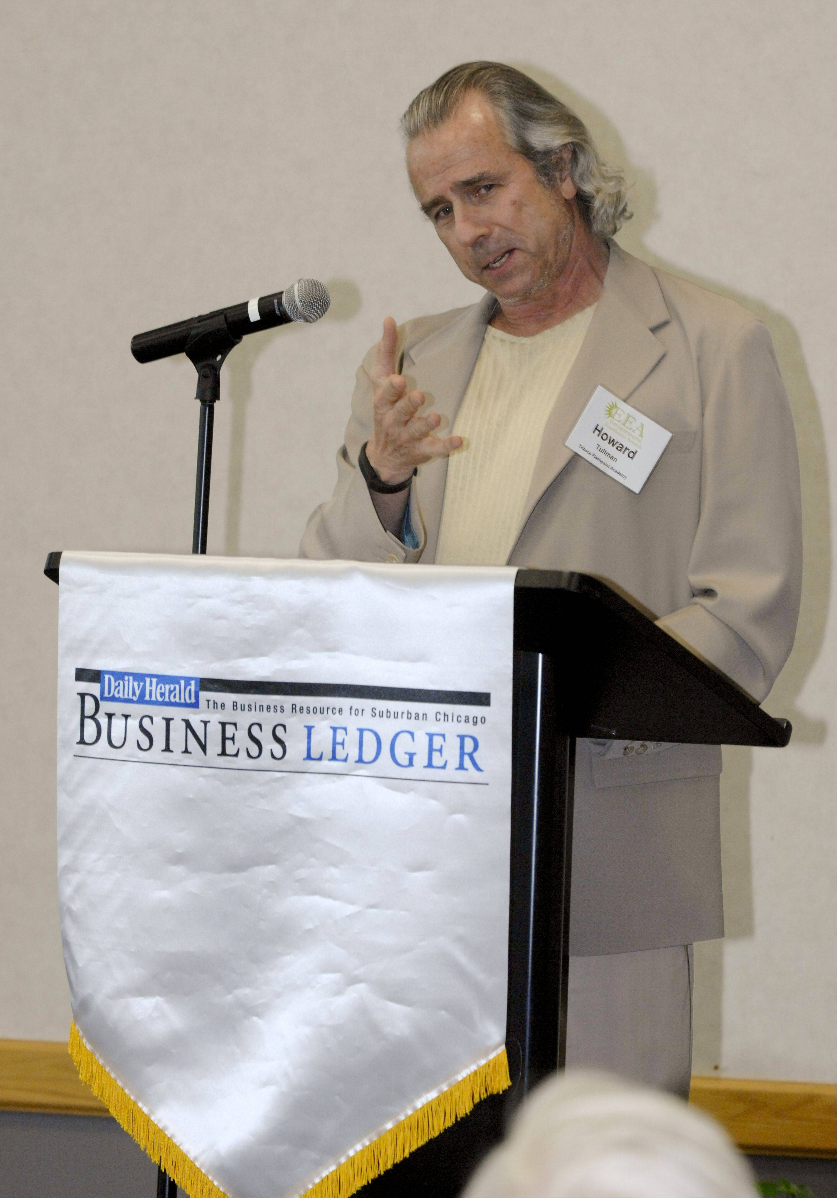Mark Black/mblack@dailyherald.comHoward Tullman give the keynote address at the Daily Herald Business Ledger 14th Annual Entrepreneurial Excellence Awards held at NIU Naperville Campus on Wednesday.