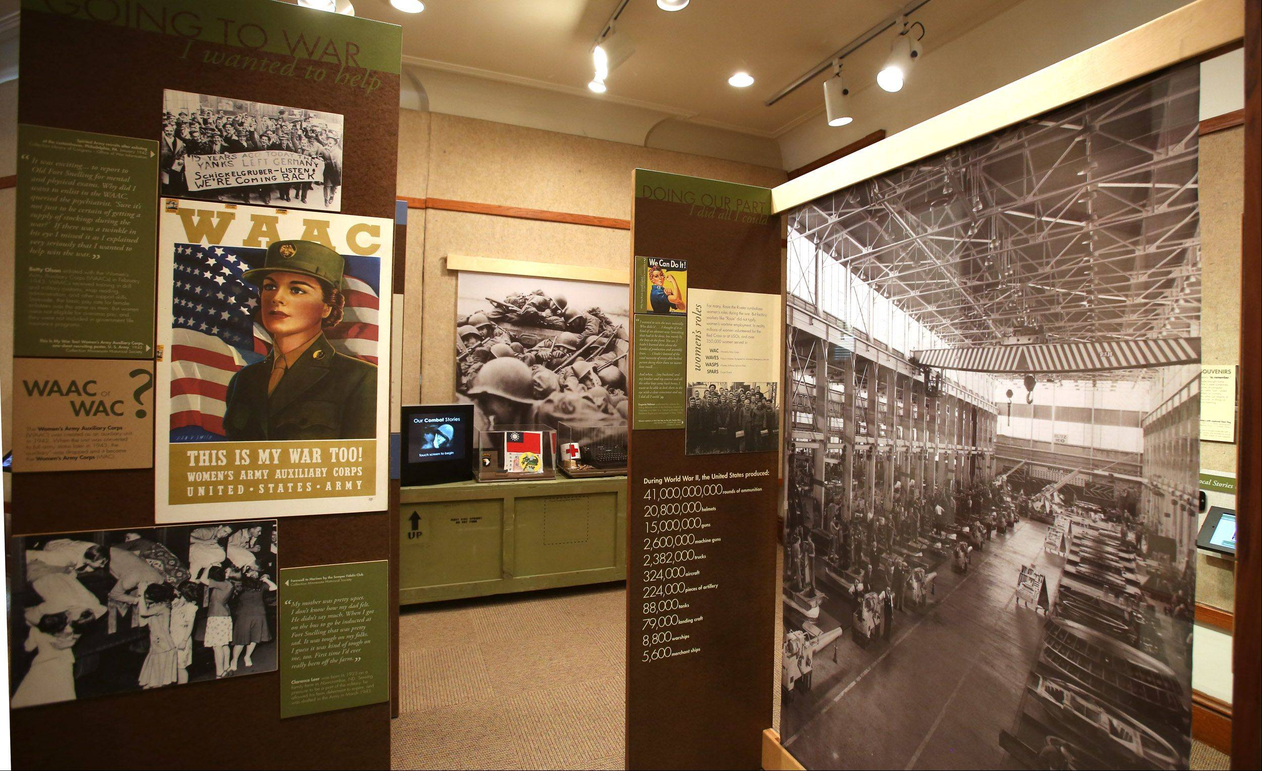 "Covering the decades from the 1930s to the 1950s, the ""Our Lives, Our Stories: America's Greatest Generation"" will be on display at the Elmhurst Historical Museum through Oct. 20."