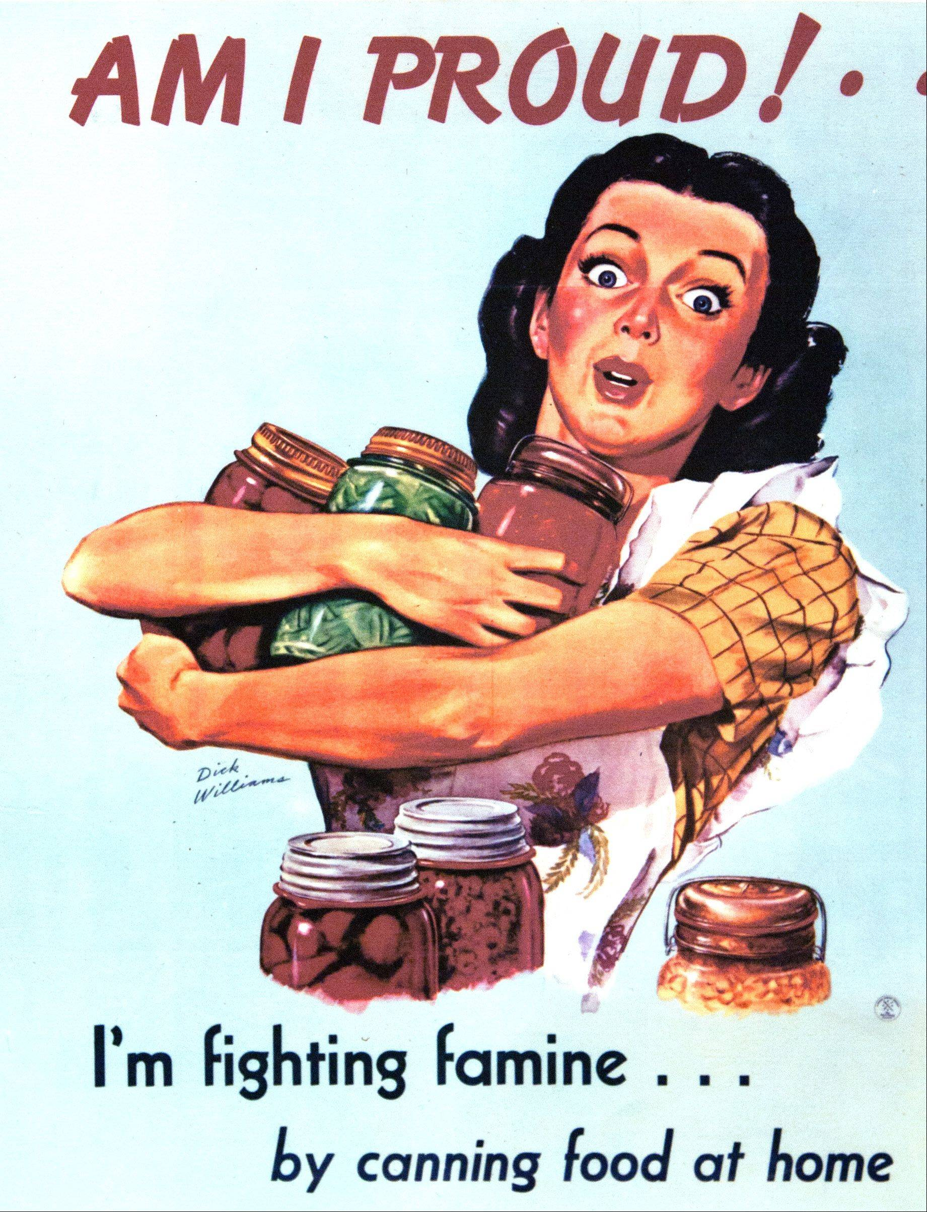 This poster shows how Americans supported the war effort during the 1940s by growing and canning their own food.