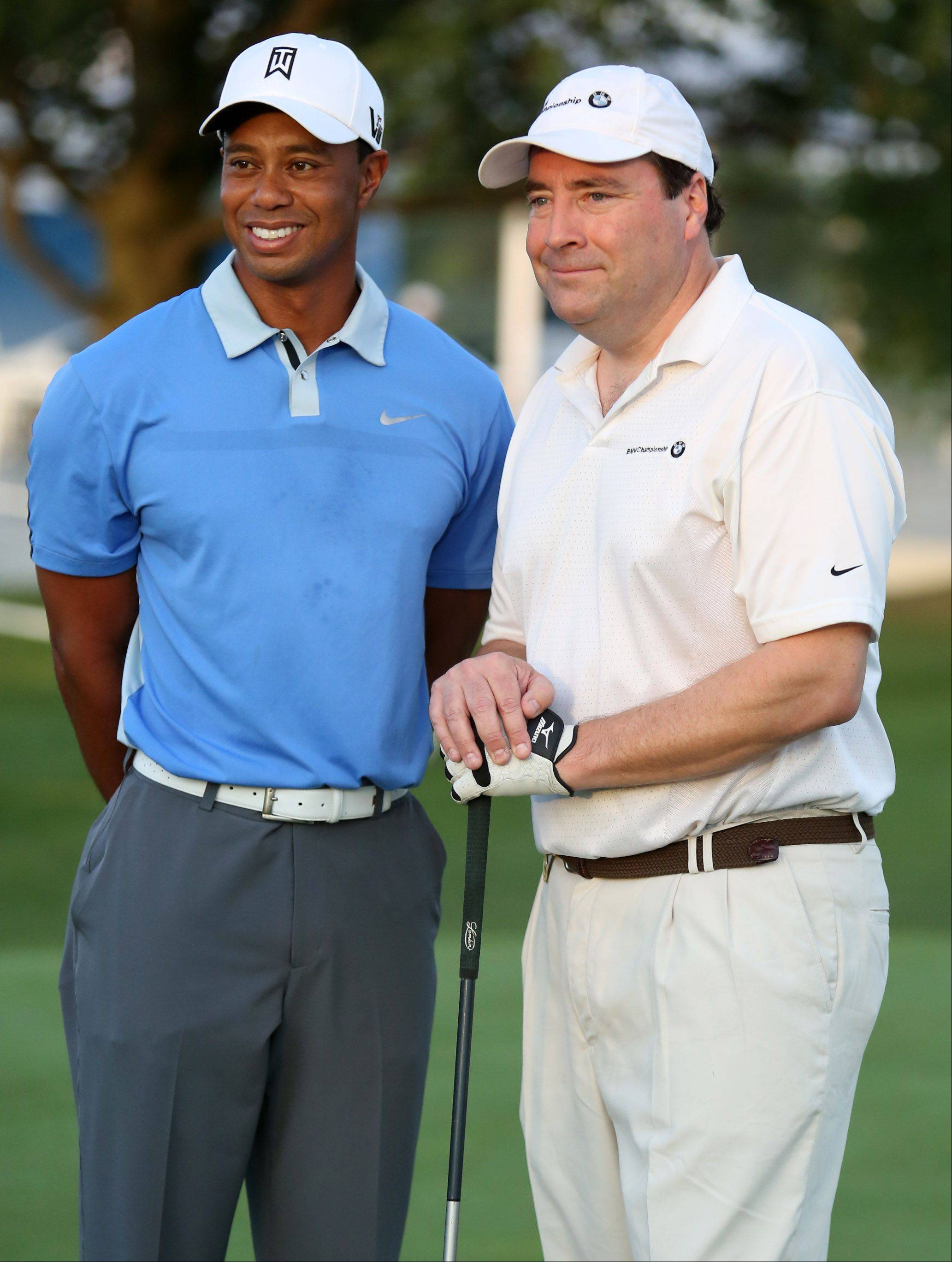 Phil LaBeau of Naperville was on of four on Tiger Woods' team.