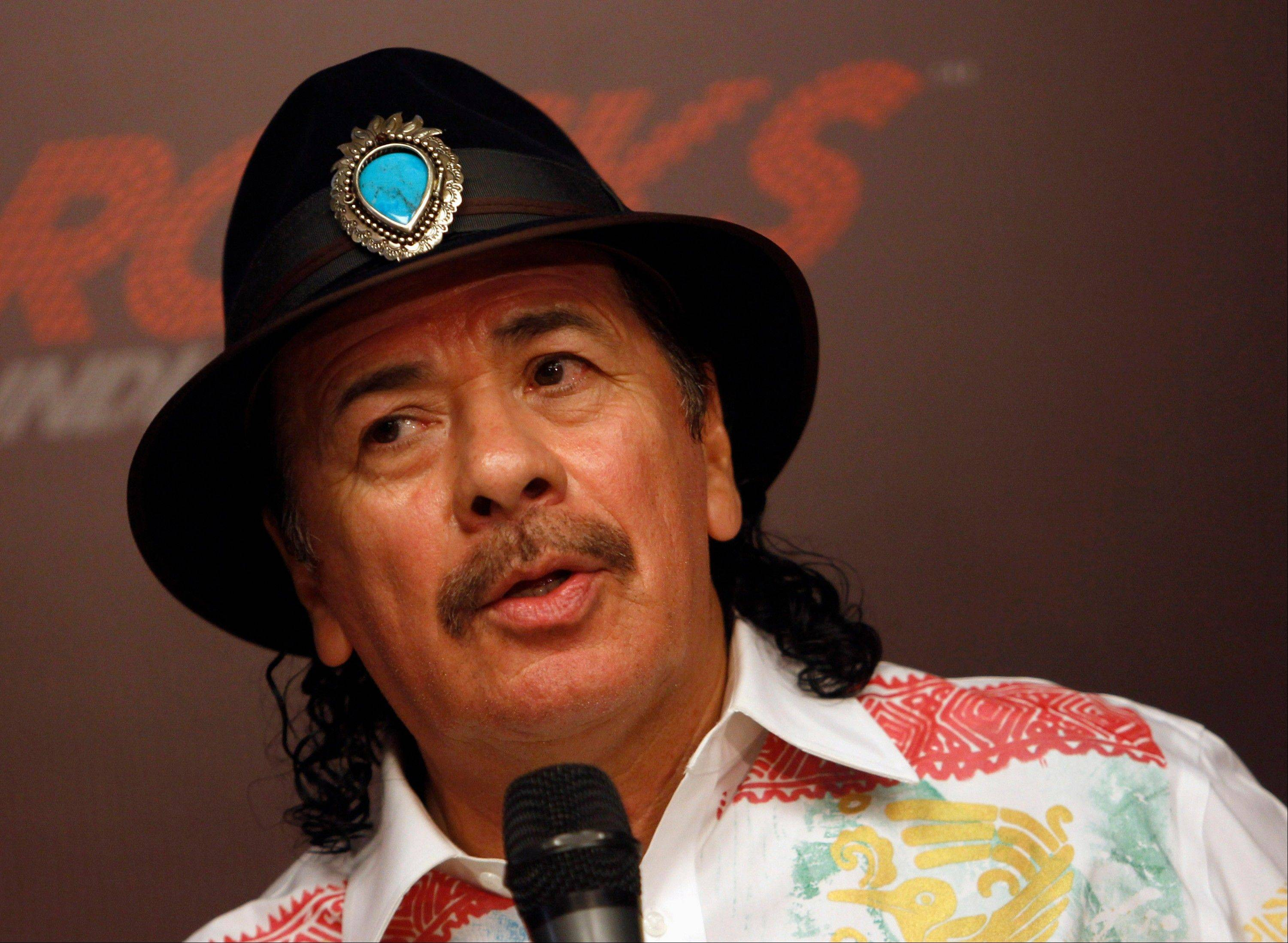 Musician Carlos Santana along with Billy Joel, jazz artist Herbie Hancock, opera star Martina Arroyo and actress Shirley MacLaine will receive this year's Kennedy Center Honors.
