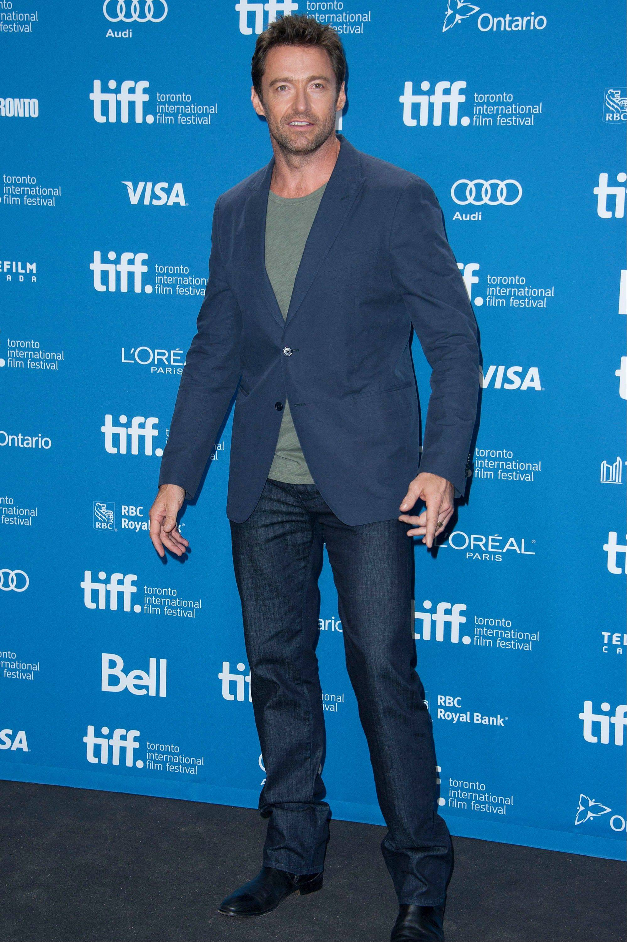 "Actor Hugh Jackman attends the press conference for ""Prisoners"" on day 3 of the 2013 Toronto International Film Festival in Toronto."