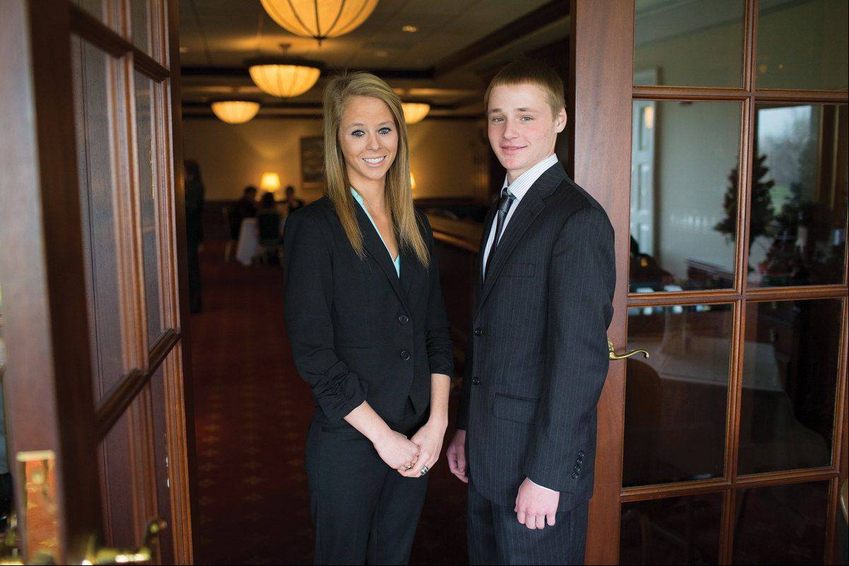 Ashley and Nick Kraus, twins from Elk Grove Village, are two of the 240 Evans Scholars Foundation scholarship winners for this year.