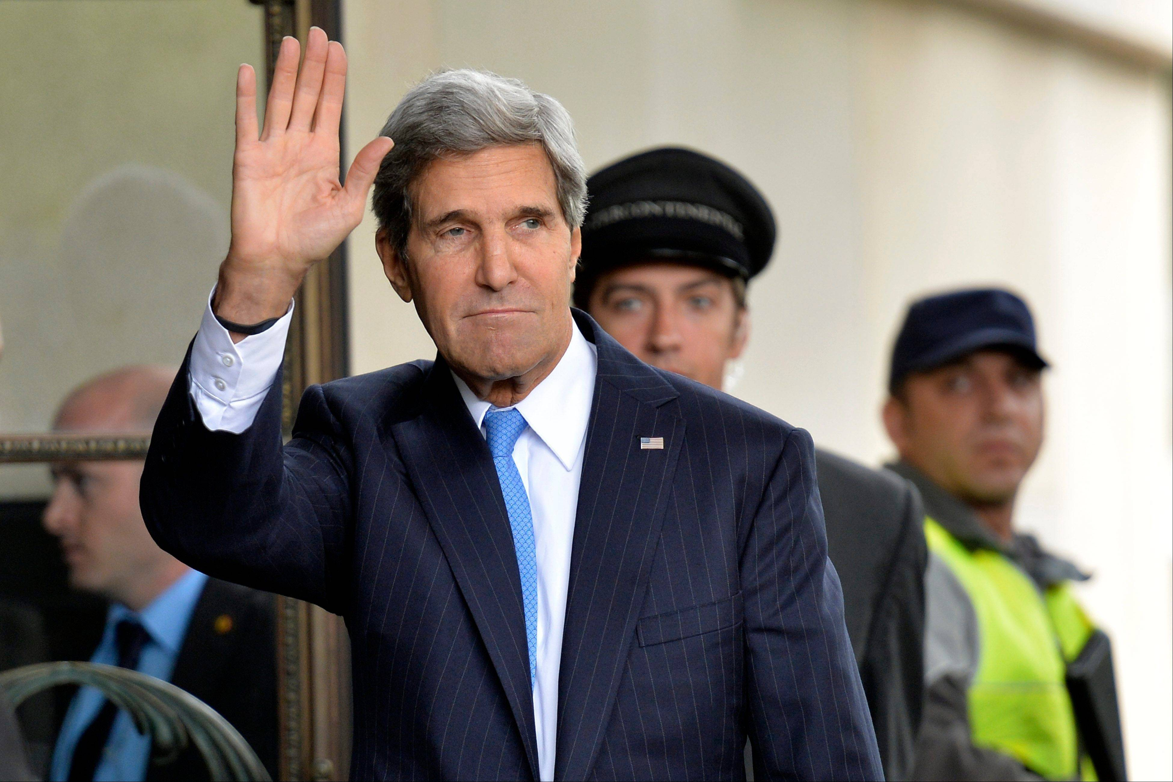 U.S. Secretary of State John Kerry arrives in Geneva, Switzerland, Thursday to test the seriousness of a Russian proposal to secure Syria�s chemical weapons.