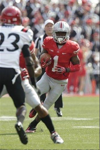 Ohio State running back Donte Wilson moves the ball against San Diego State during last Saturday�s home win.