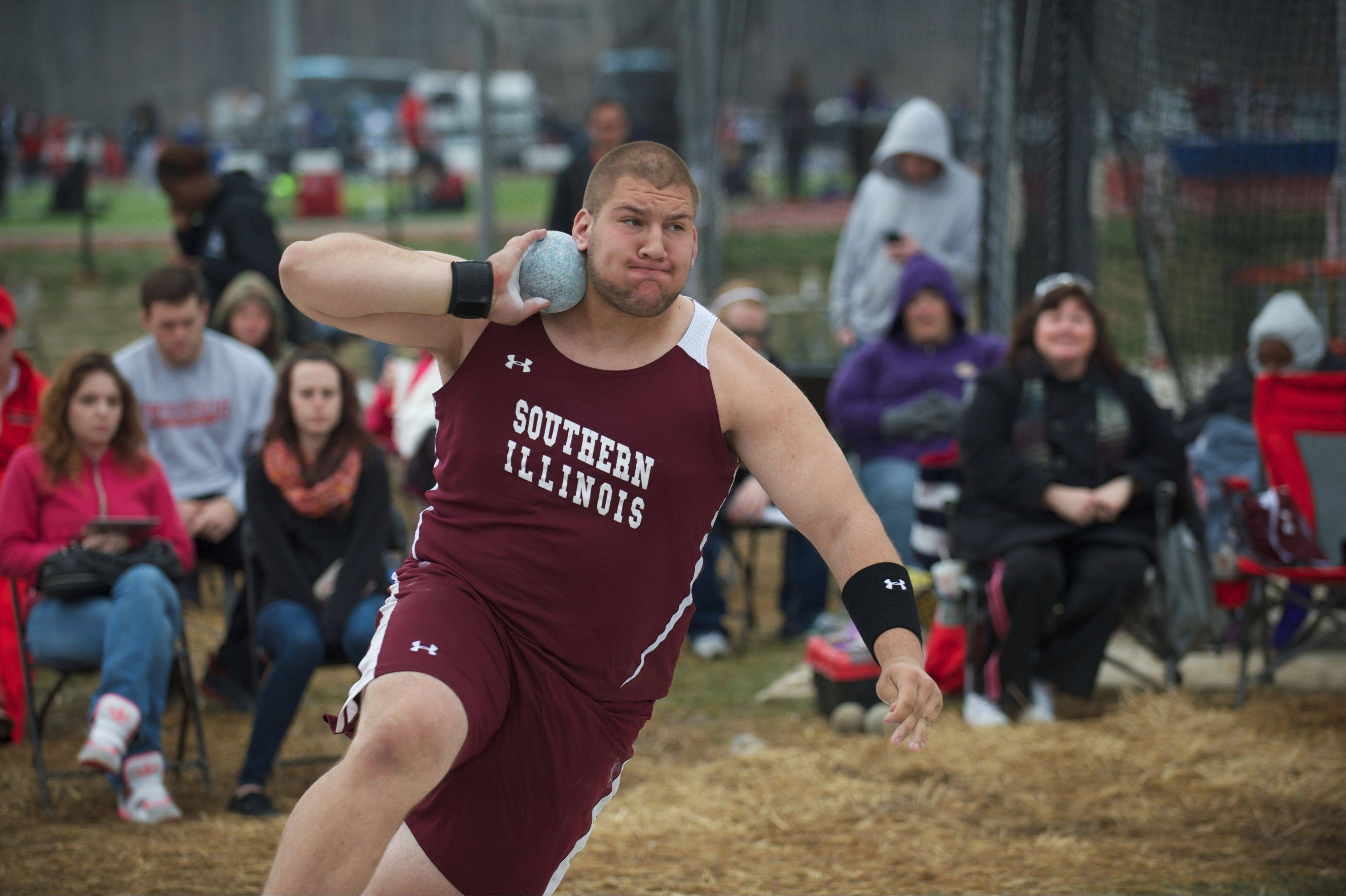Cary-Grove graduate Josh Freeman, now a sophomore thrower at Southern Illinois, had a productive offseason throwing at several top meets.