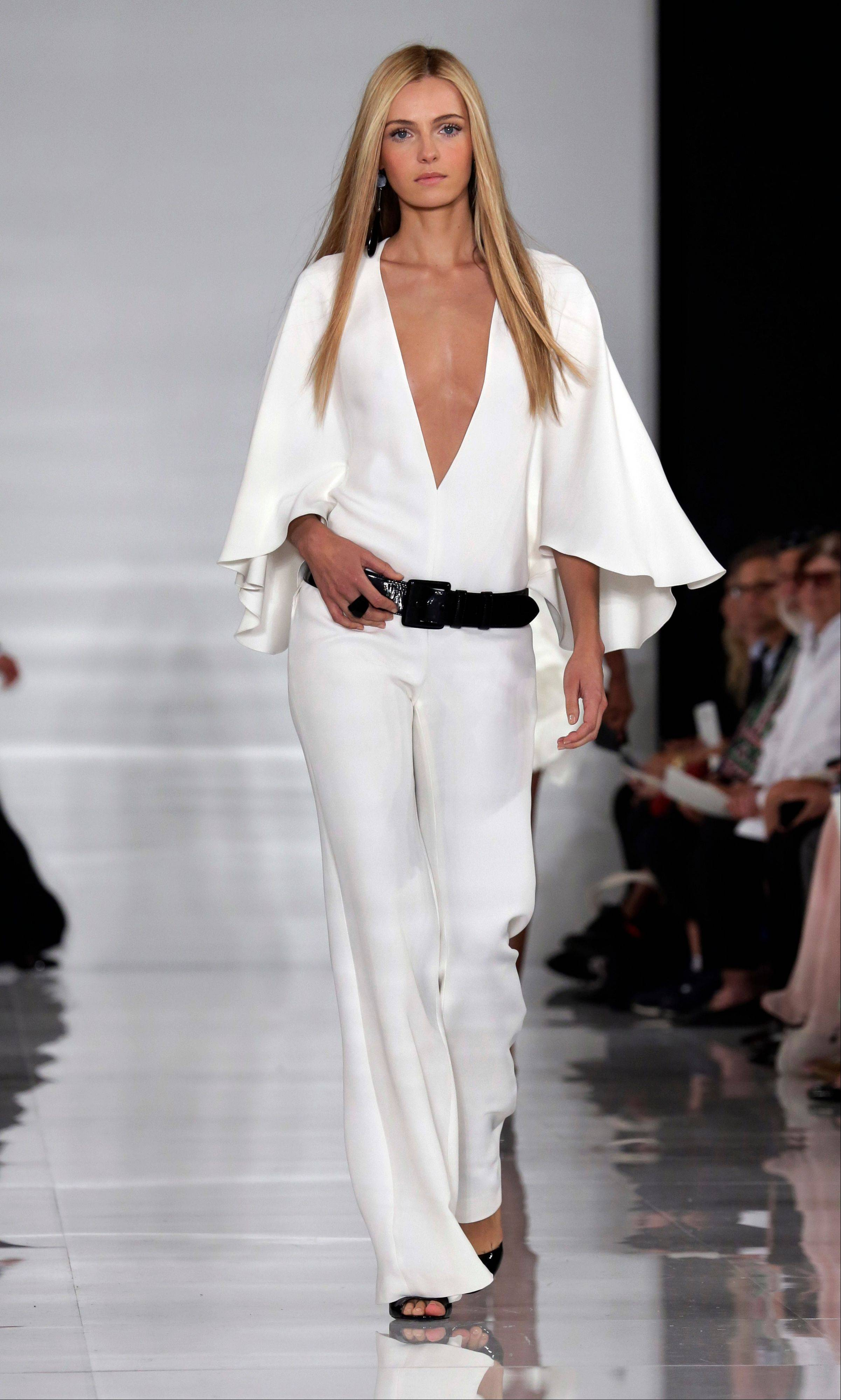The Ralph Lauren Spring 2014 collection is modeled during Fashion Week in New York.