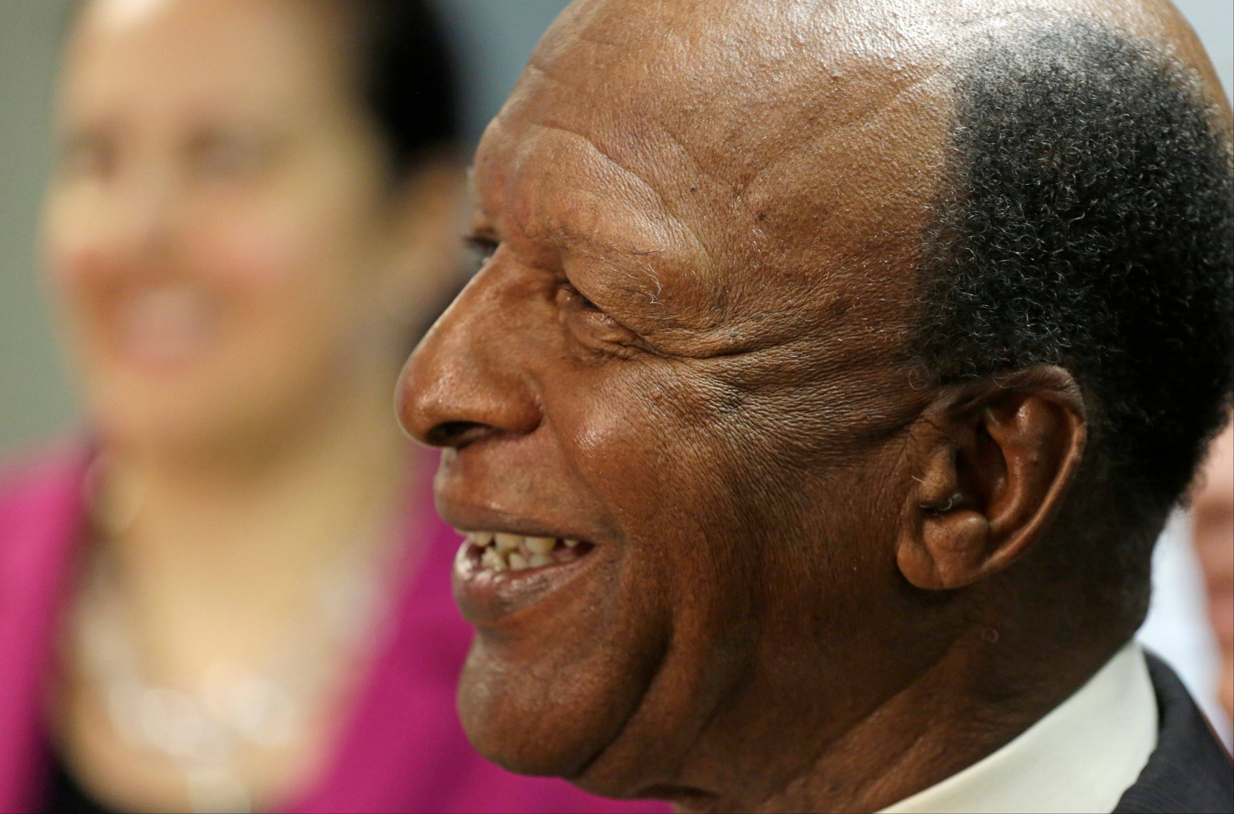 Illinois Secretary of State Jesse White announces his bid for a fifth term in office on Thursday in Chicago. So far, White faces no opponents.