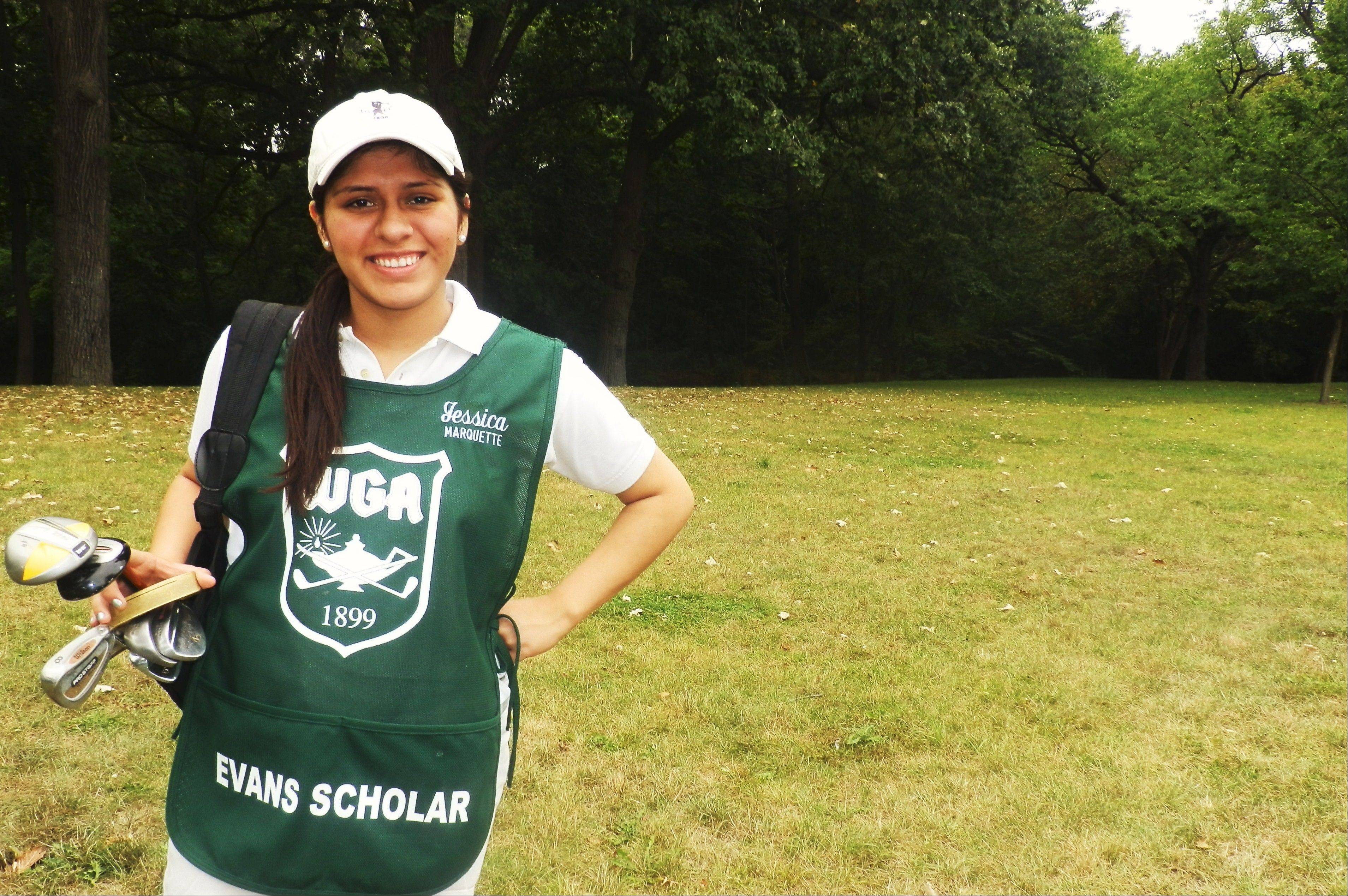Jessica Ayala of Waukegan became the first in her family to attend a four-year university after she won a Chick Evans Scholarship. The ongoing BMW Championship in Lake Forest is a major fundraiser for the scholarship program.