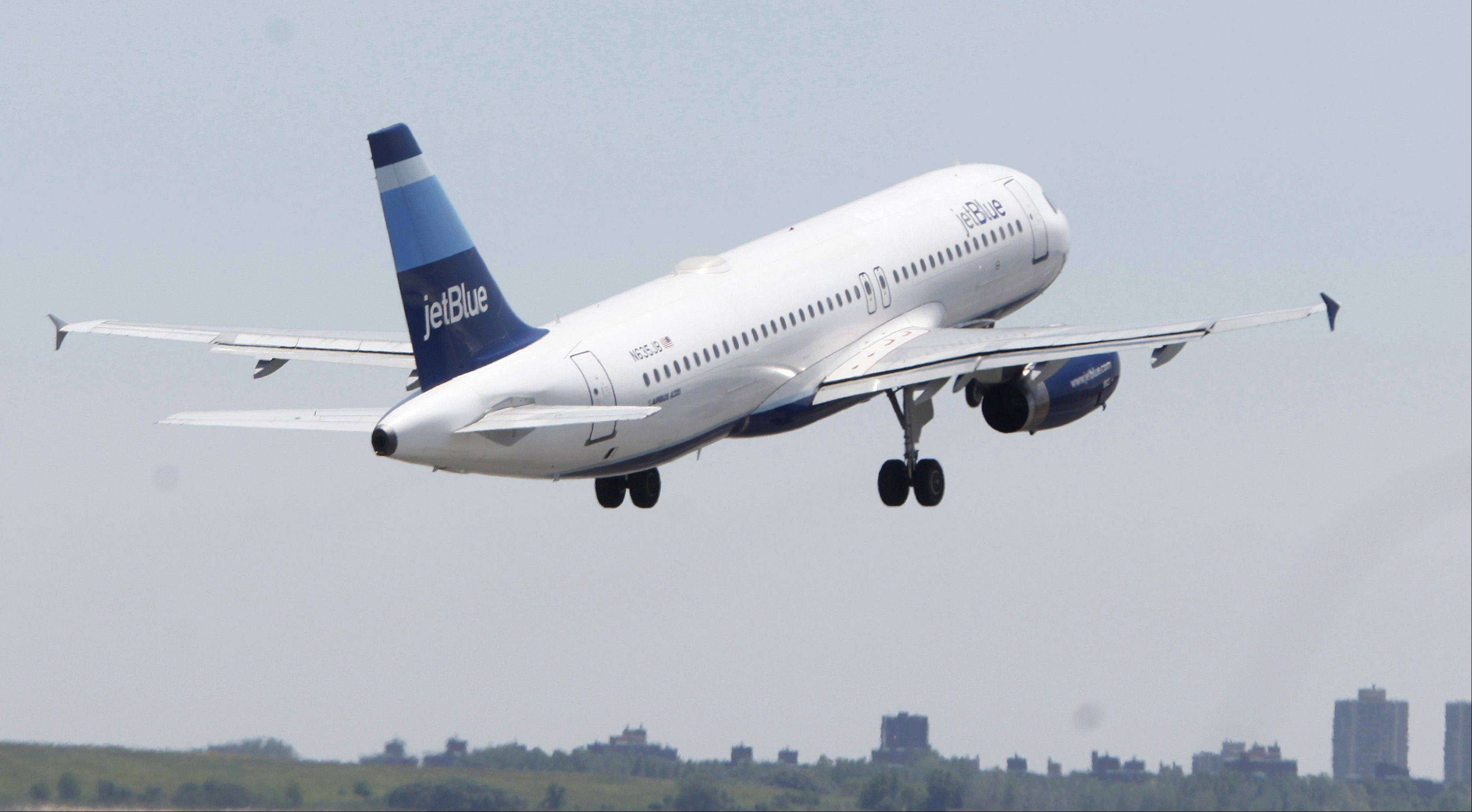 JetBlue Airways Corp., the carrier with the most domestic flights from New York's John F. Kennedy airport, said delays caused by a computer system outage will affect service throughout the day.