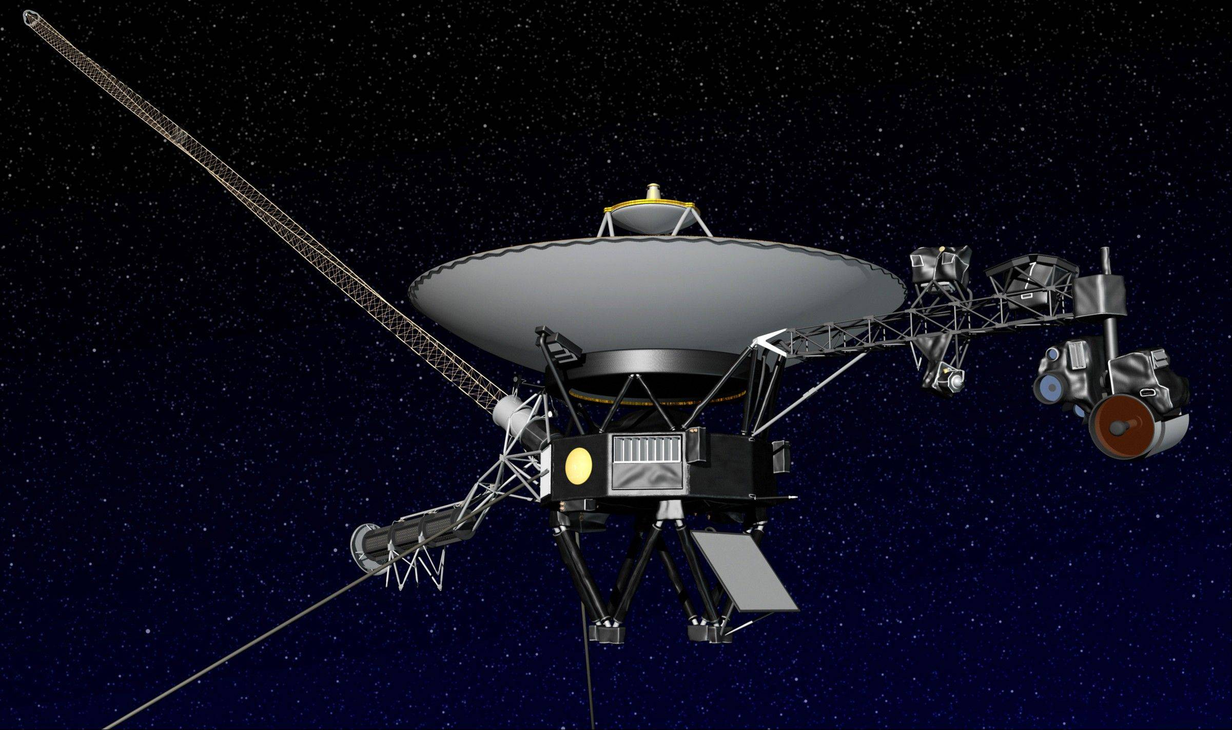 The Voyager 1 spacecraft, seen here in an artist's rendering, is farther from Earth than any man-made object has ever gone.