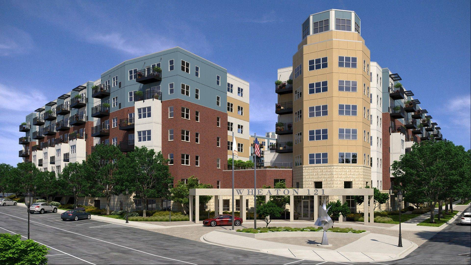 The first of more than 300 families have begun moving into the new downtown Wheaton 121 luxury apartment development. It's slated for completion next spring.