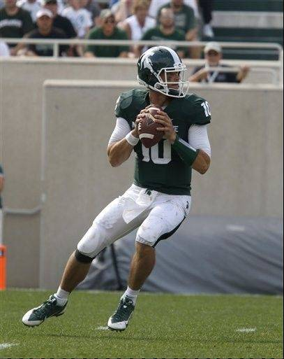 Michigan State quarterback Andrew Maxwell looks to throw during the third quarter of last week's game against South Florida in East Lansing, Mich.