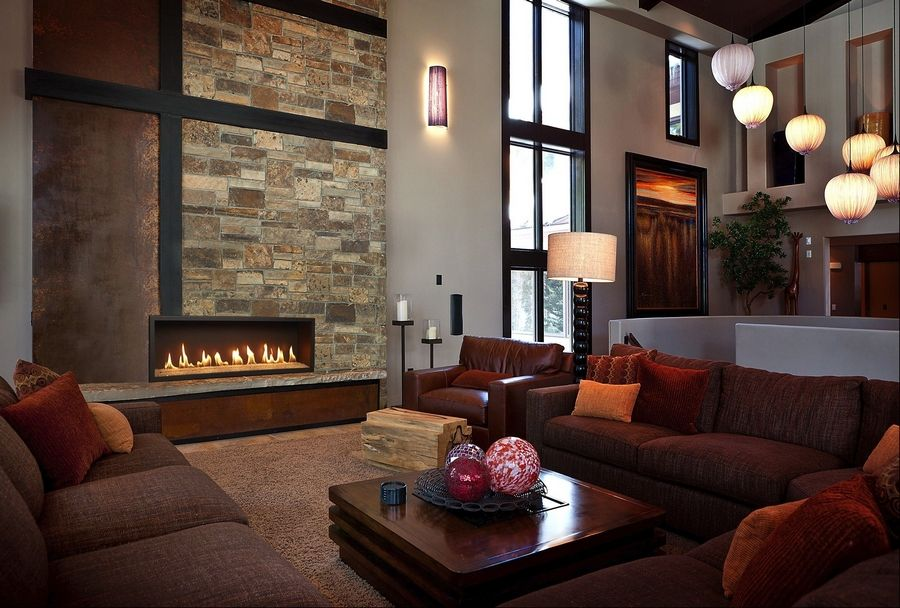 Many younger homebuyers like a contempory look, and opt for the new linear-style fireplaces.