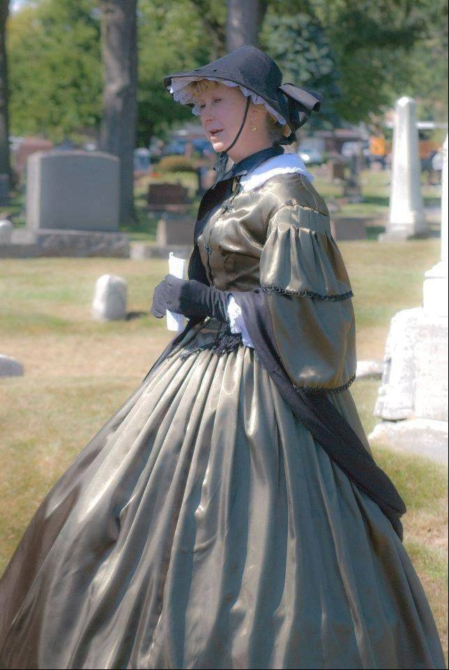 Actress Margaret Capitani dons period attire to bring history to life on a previous Cemetery Walk.