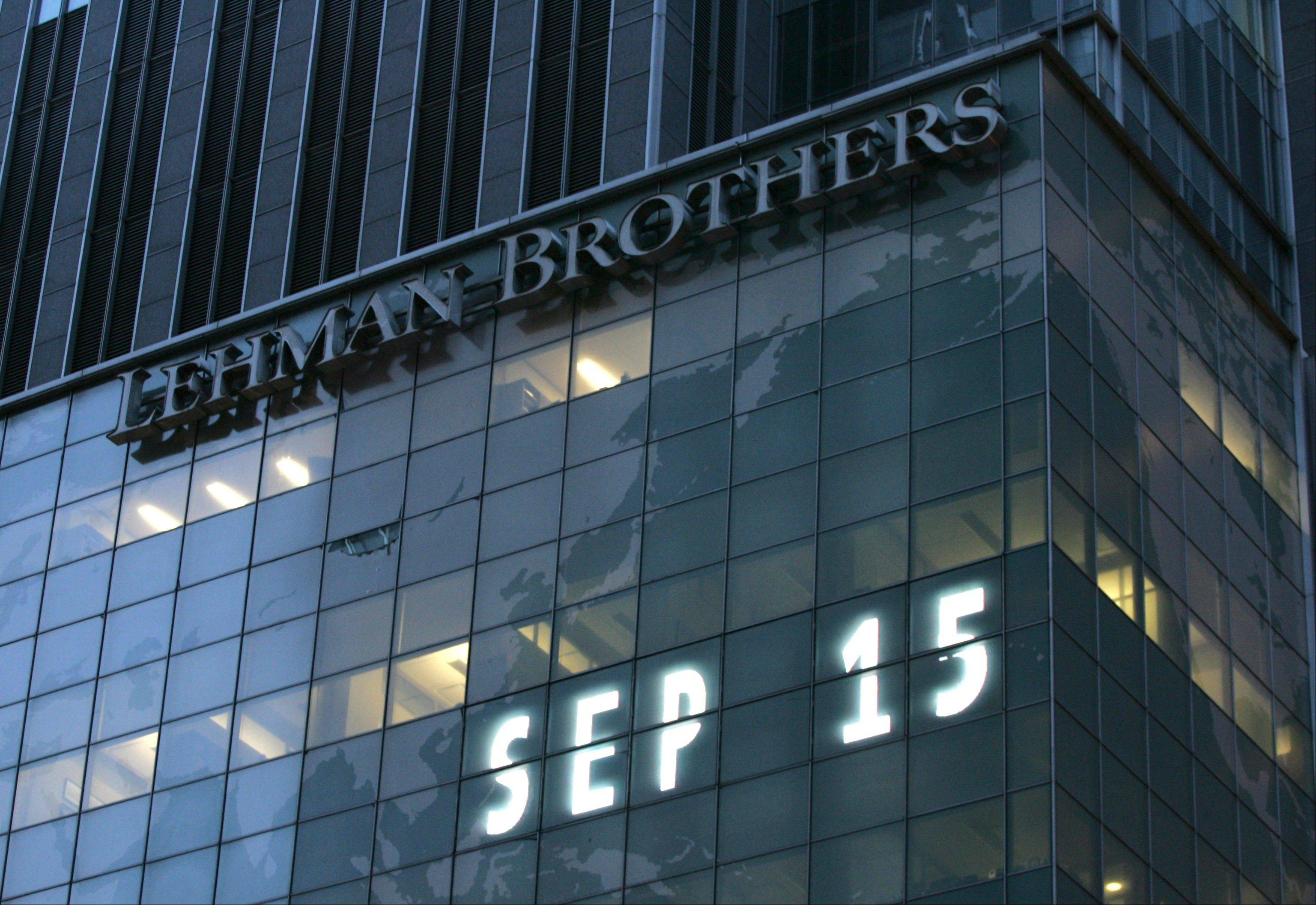 Lehman Brothers world headquarters in New York, the day the 158-year-old investment bank, choked by the credit crisis and falling real estate values, filed for bankruptcy.