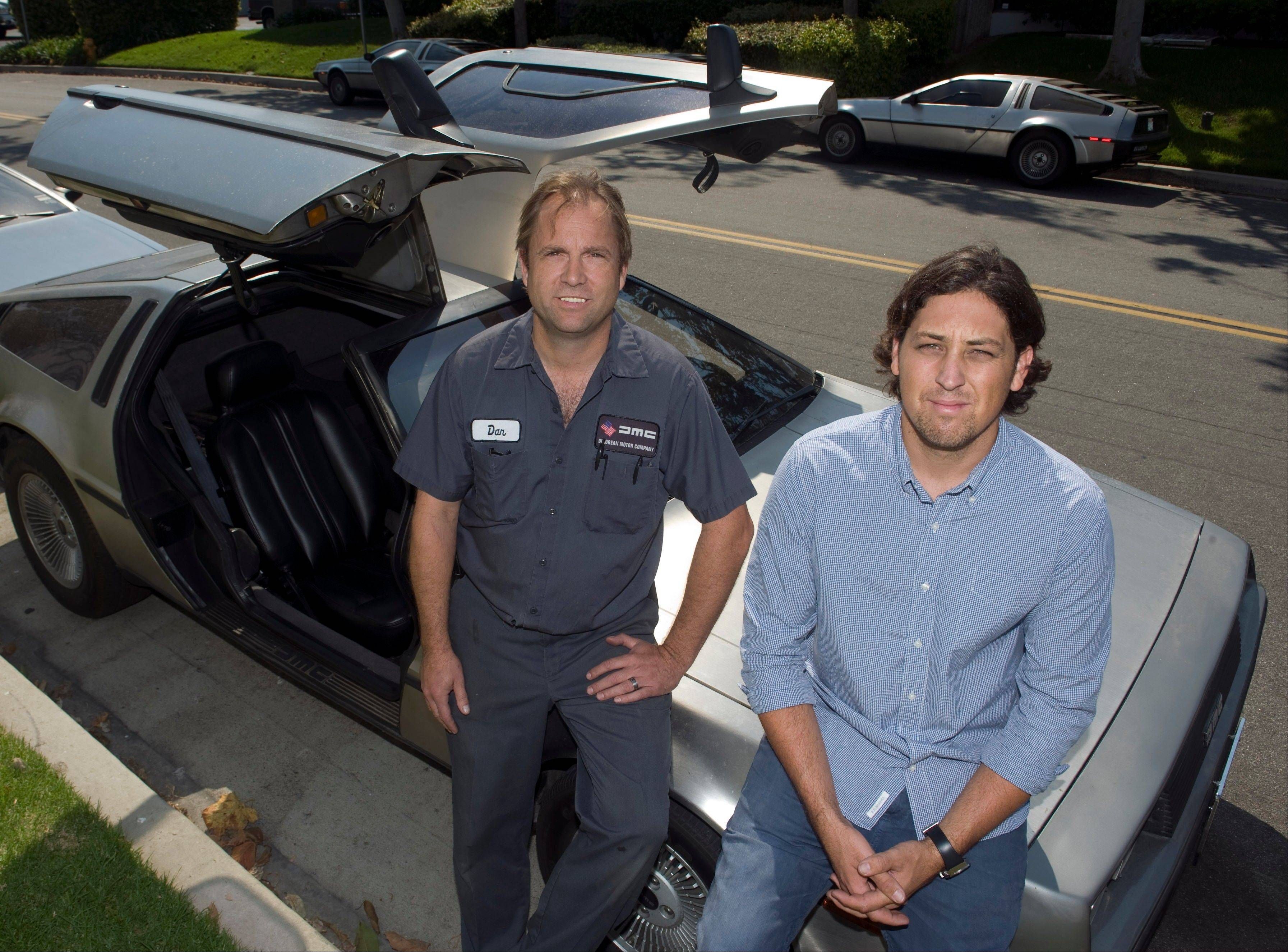 Danny Botkin, left, service manager, and Cameron Wynne, general manager, of the DeLorean Motor Company.