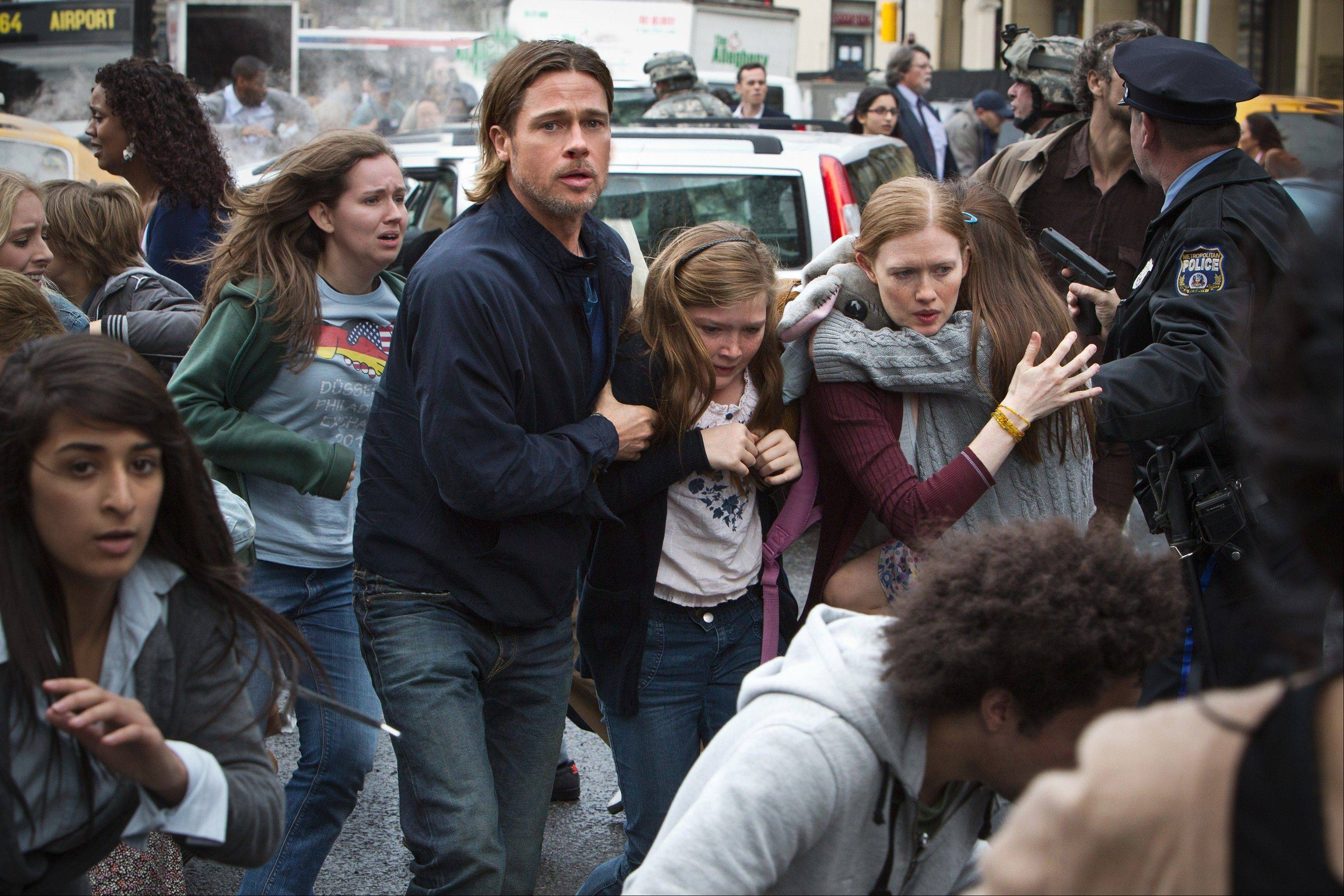 "Brad Pitt stars in the thriller ""World War Z."""