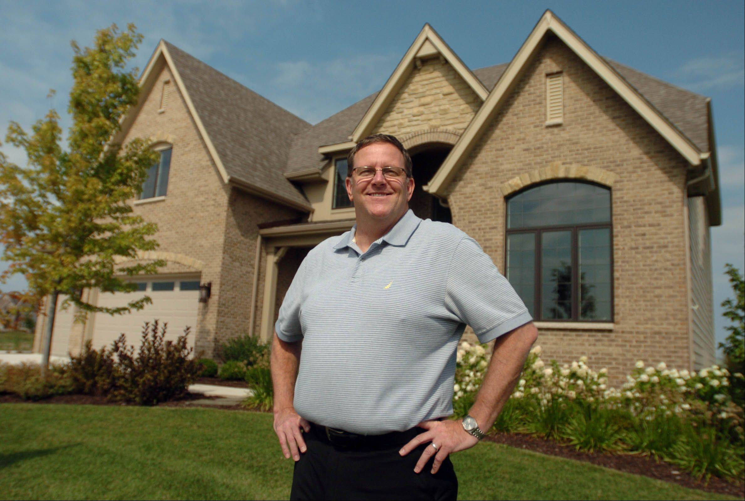 Peter Stefani, owner and president of King's Court Builders in Naperville, focuses on constructing custom homes.