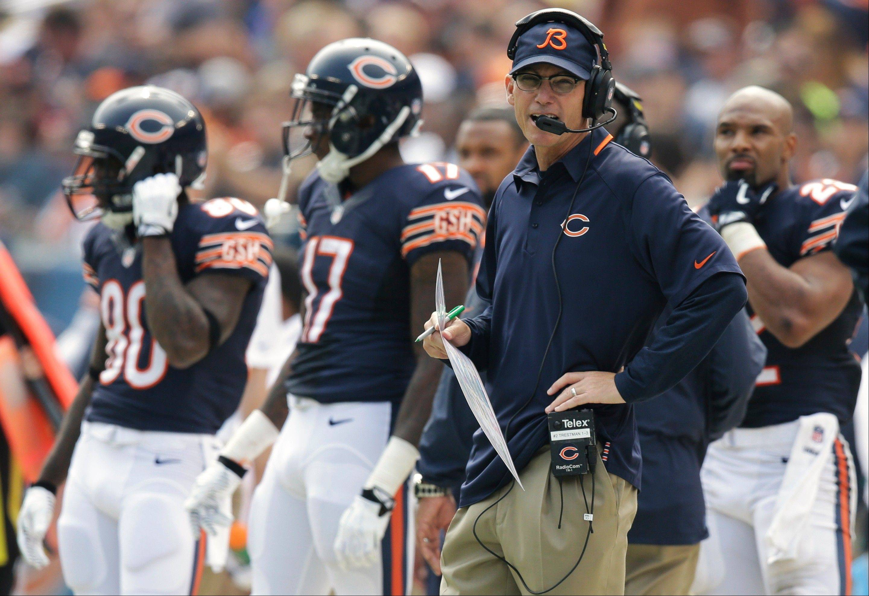 Chicago Bears coach Marc Trestman watches the team's game against the Cincinnati Bengals Sept. 8.