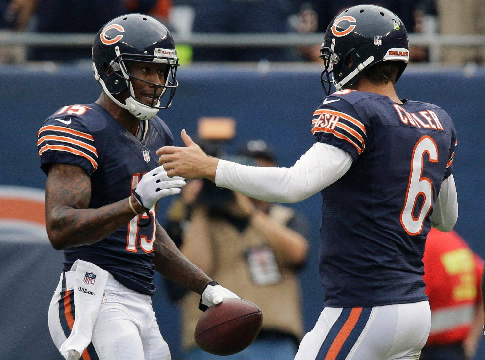 Bears quarterback Jay Cutler (6) was selected again to be one of five captains on the team. Head coach Marc Trestman calls Cutler a key leader.