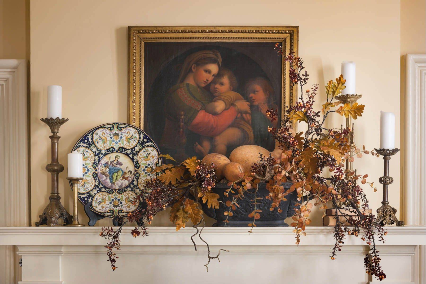 One of the easiest � and most powerful � places you can trick up for autumn is your fireplace mantel.