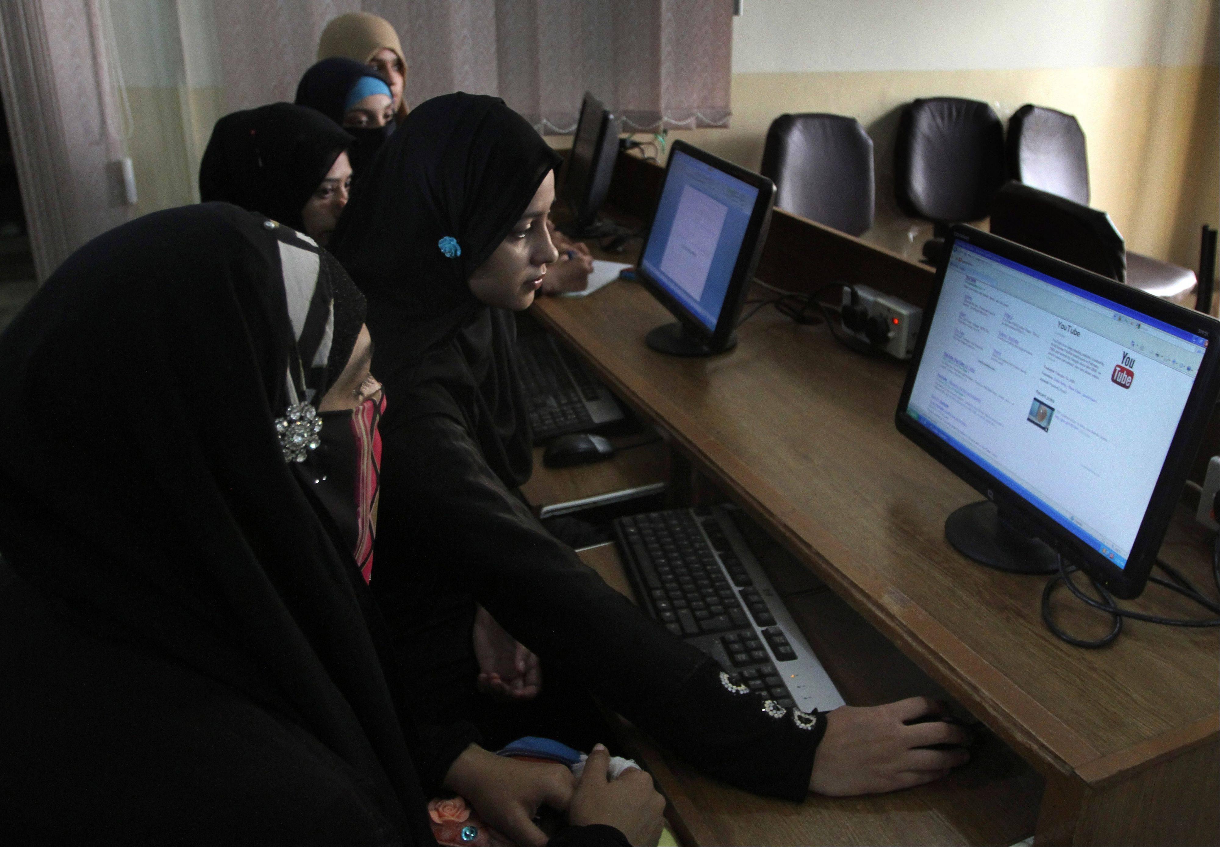 University students try to access YouTube in Karachi, Pakistan. For almost a year, Pakistan�s wanting to watch the video-sharing website YouTube have had to find other alternatives. The site has been banned after Pakistani officials acting in response outrage across the country over the airing of an anti-Islamic film blocked access to YouTube.