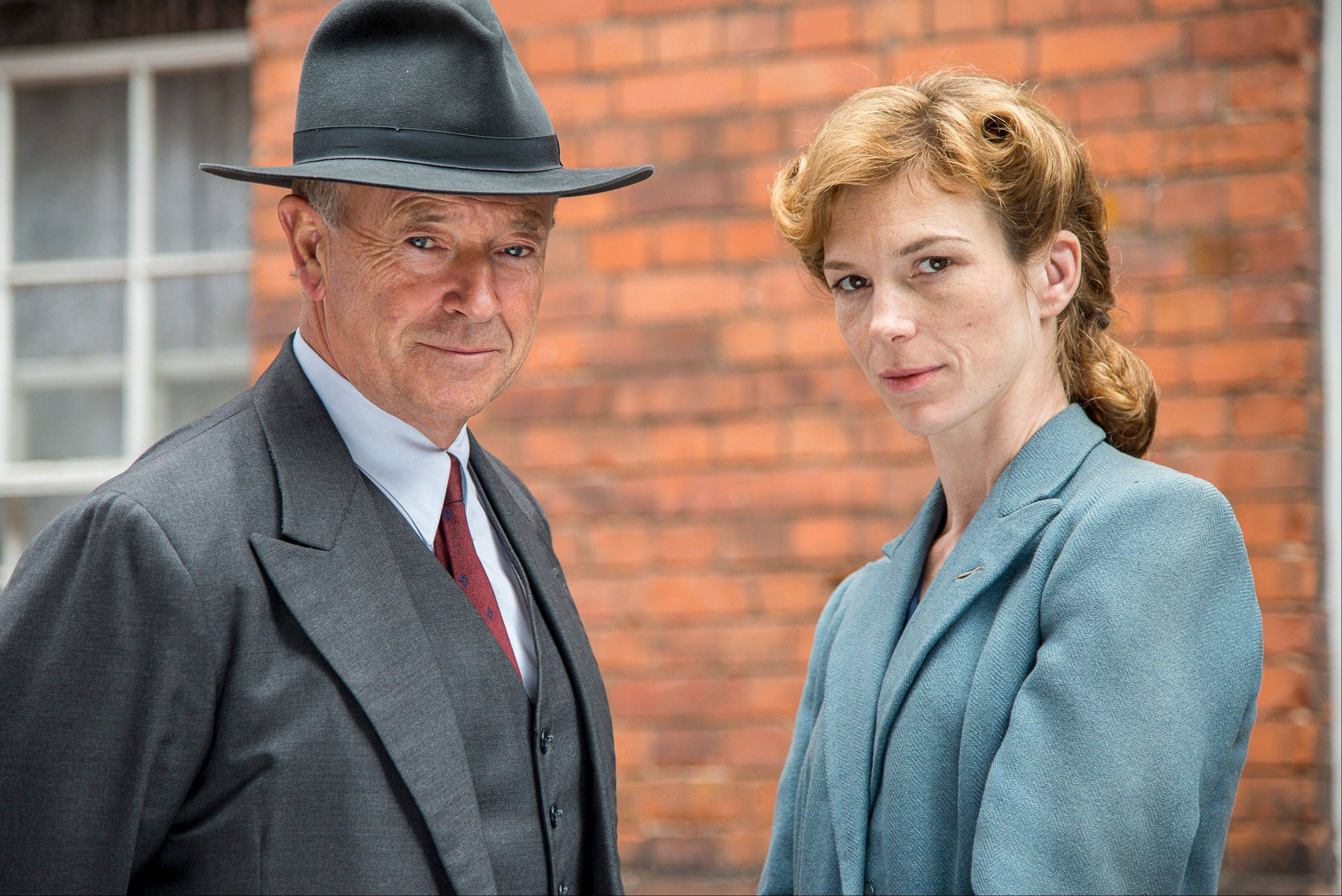 "Michael Kitchen, left, and Honeysuckle Weeks in ""Foyle's War,"" premiering its new season on ""Masterpiece Mystery!"" on PBS."