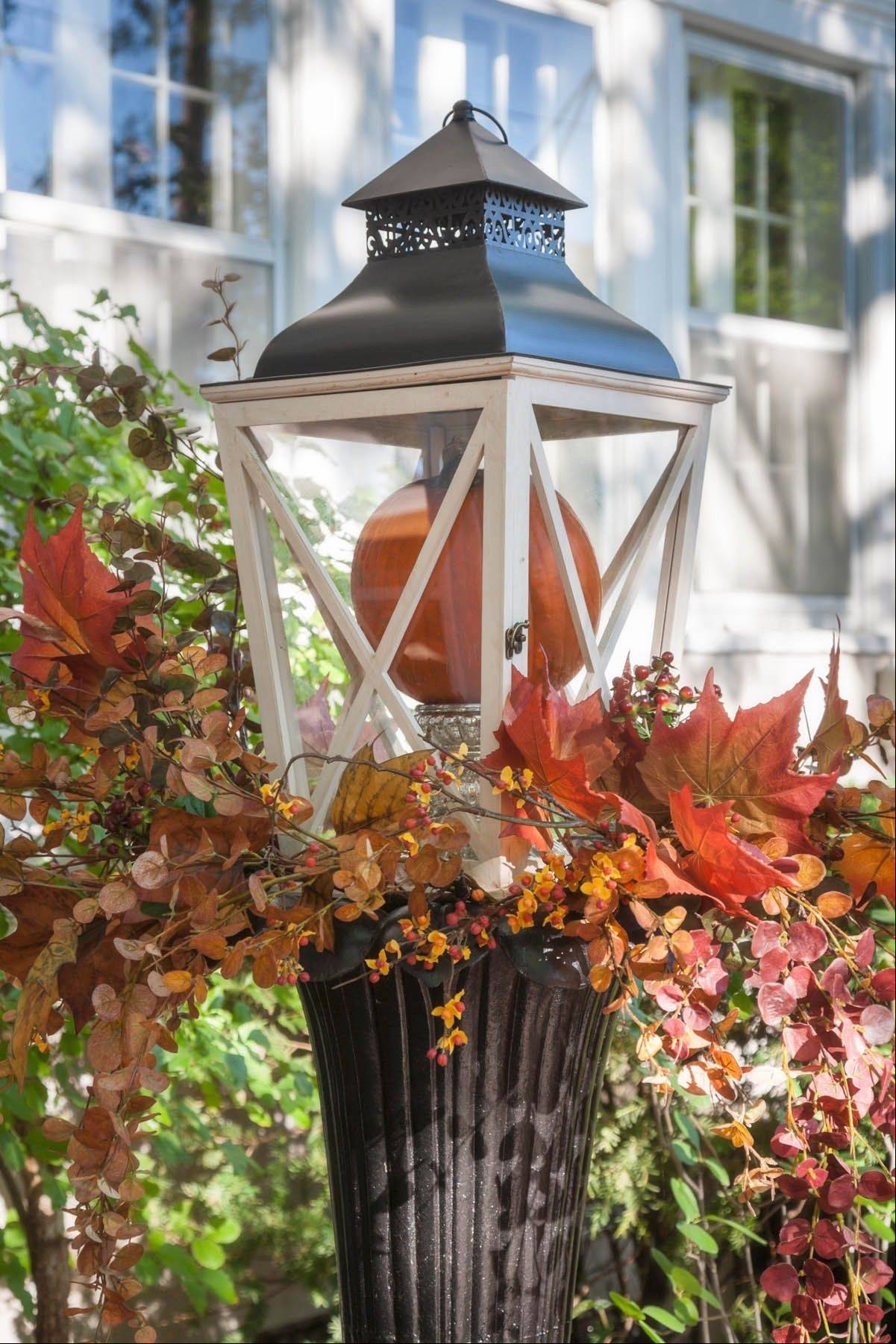 Lanterns will brighten up any yard all year round.