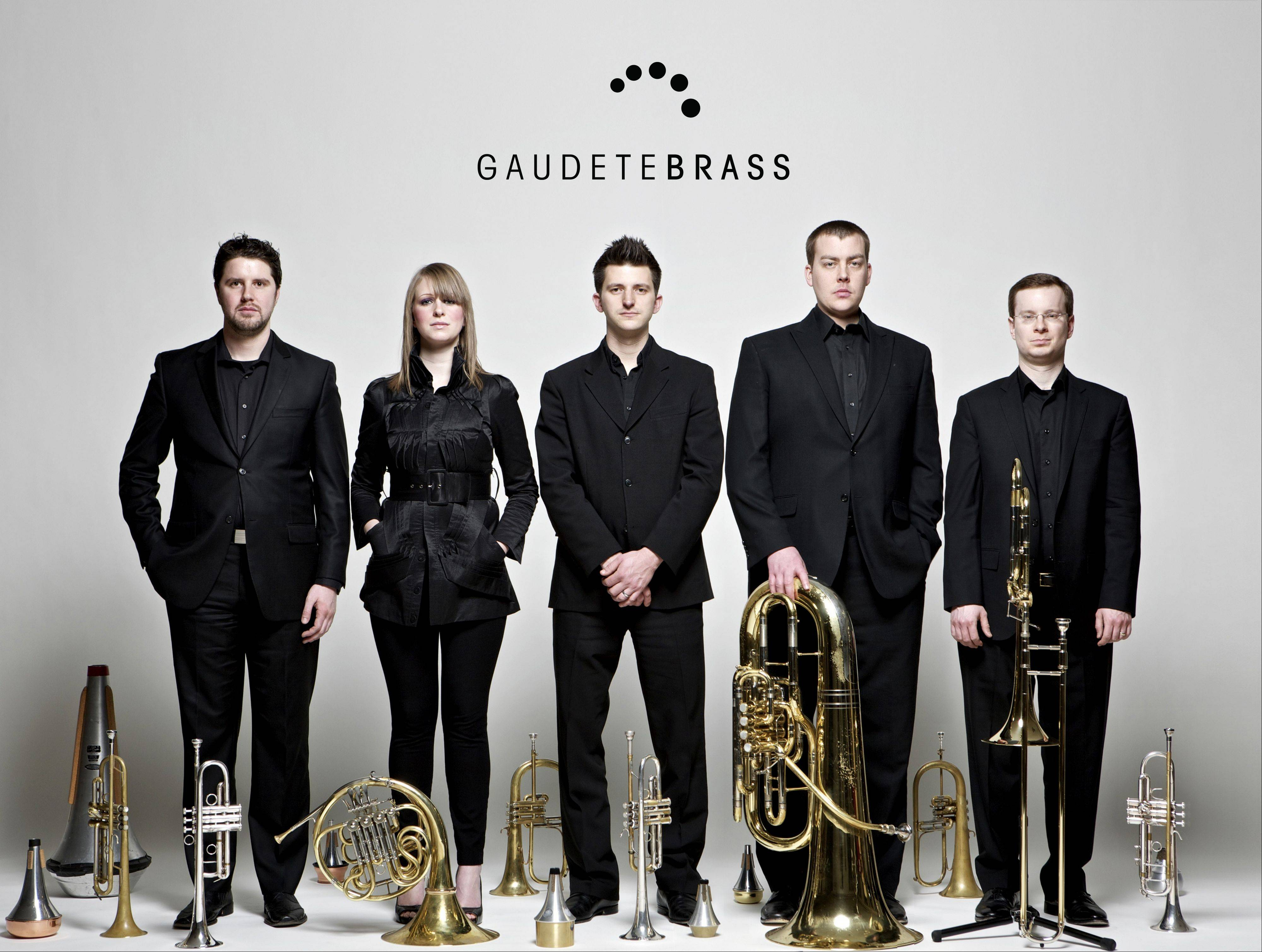 The Gaudete Brass Quintet will perform at the Chicago Cultural Center.