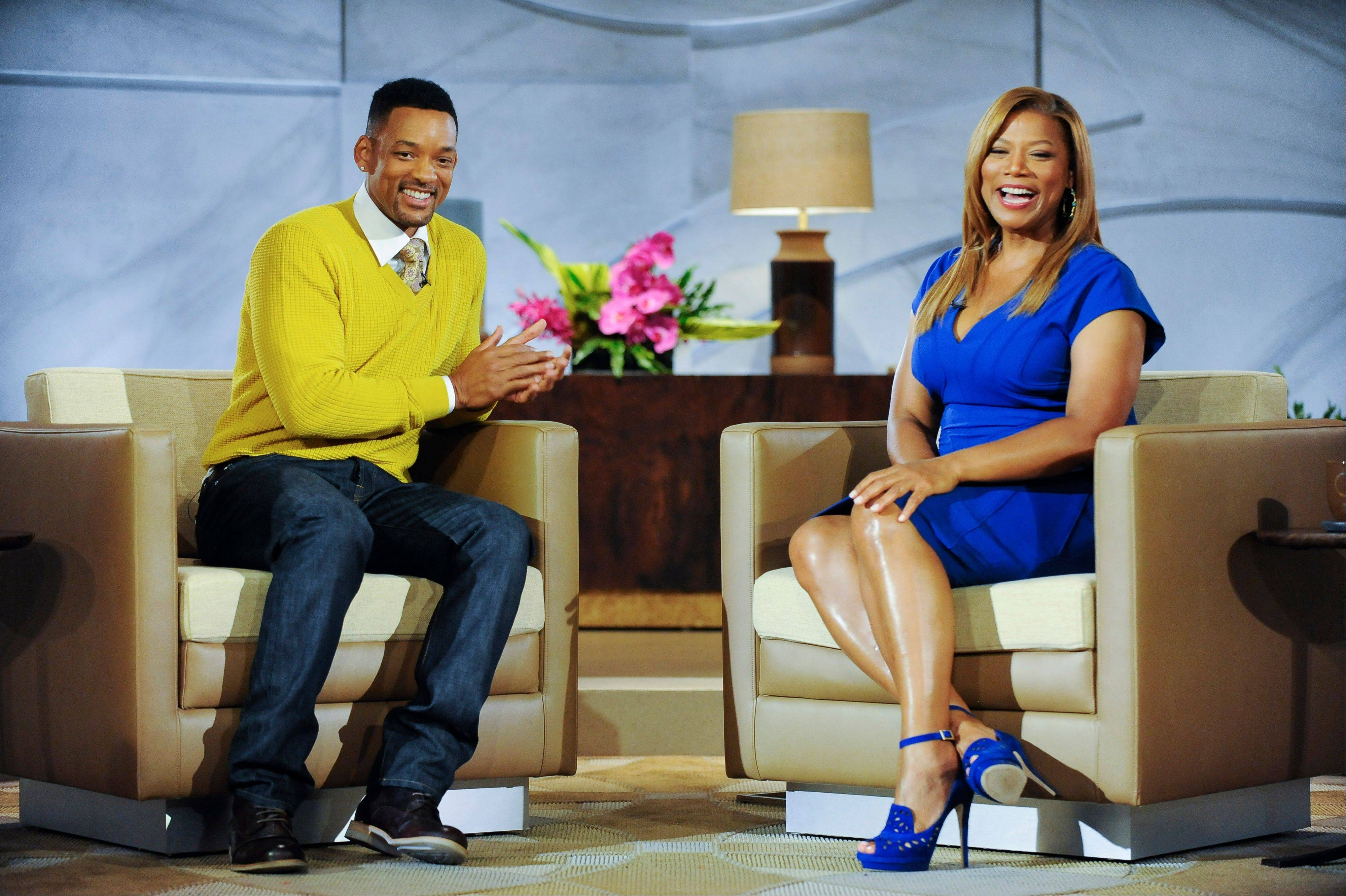 Will Smith serves as executive producer on Queen Latifah�s new daytime talk show, �The Queen Latifah Show,� which debuts Monday.