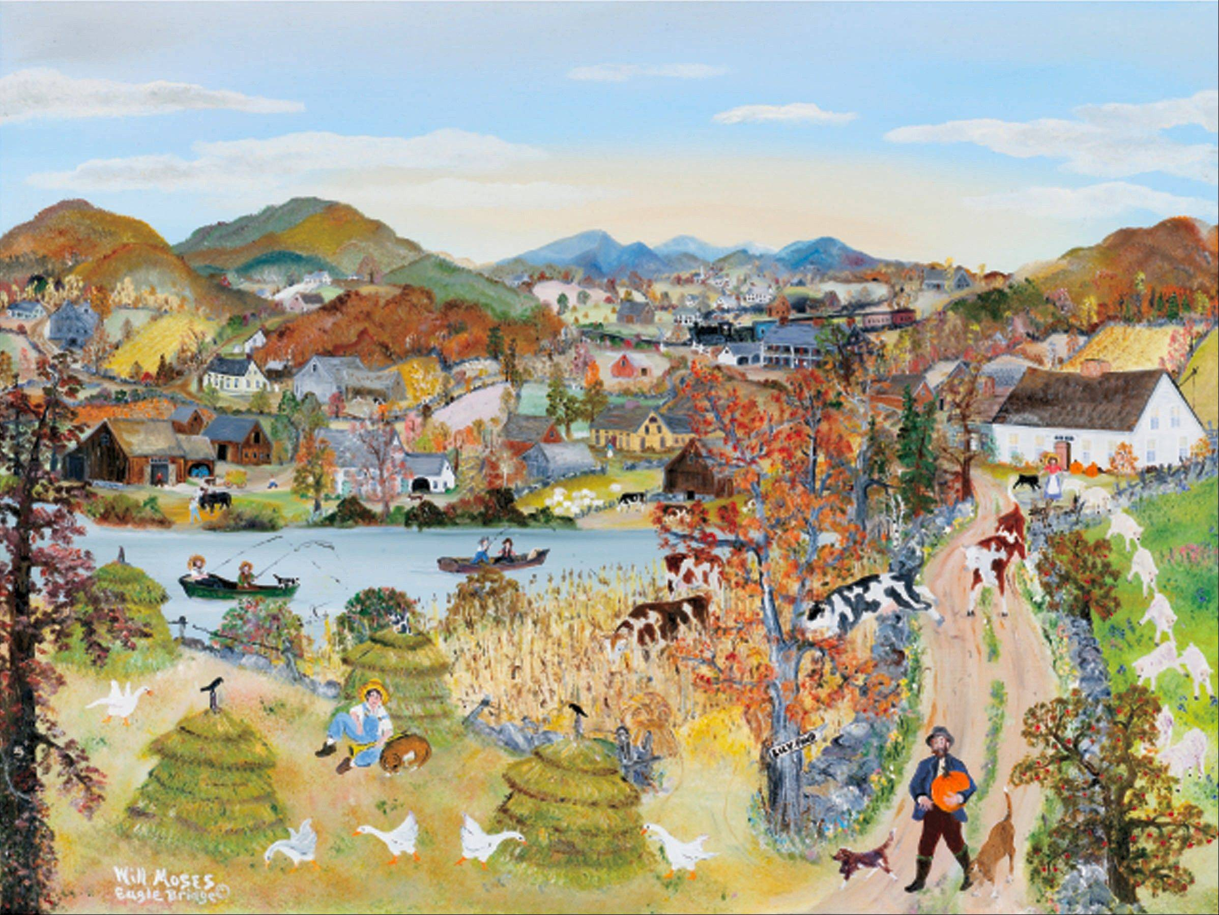 """Come Blow Your Horn,"" a painting by Will Moses, great-grandson of Grandma Moses, will debut at the Autumn Country Folk Art Festival in St. Charles, which opens Friday, Sept. 20."