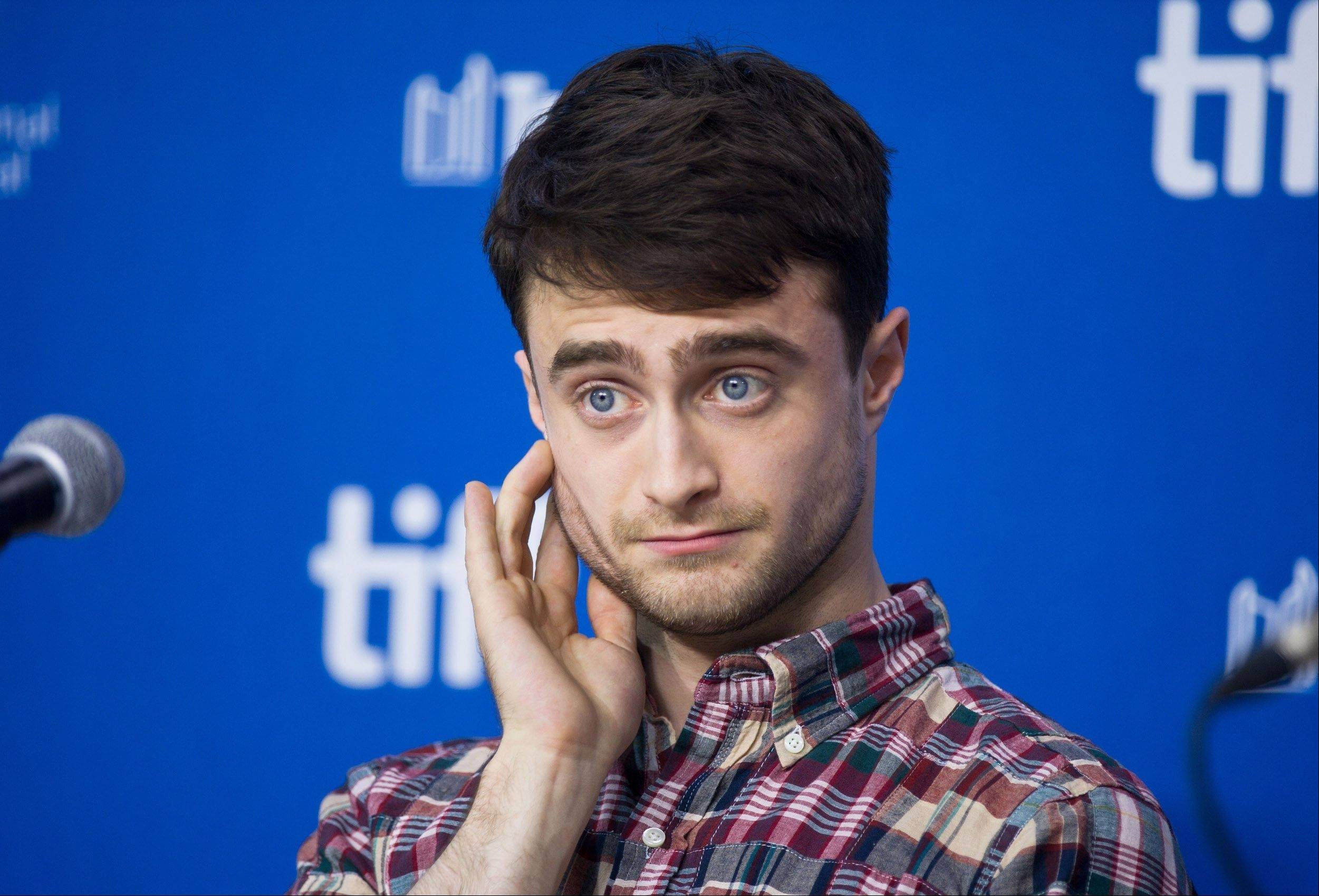 "Actor Daniel Radcliffe listens to a question during the press conference for ""The F Word"" at the 2013 Toronto International Film Festival."